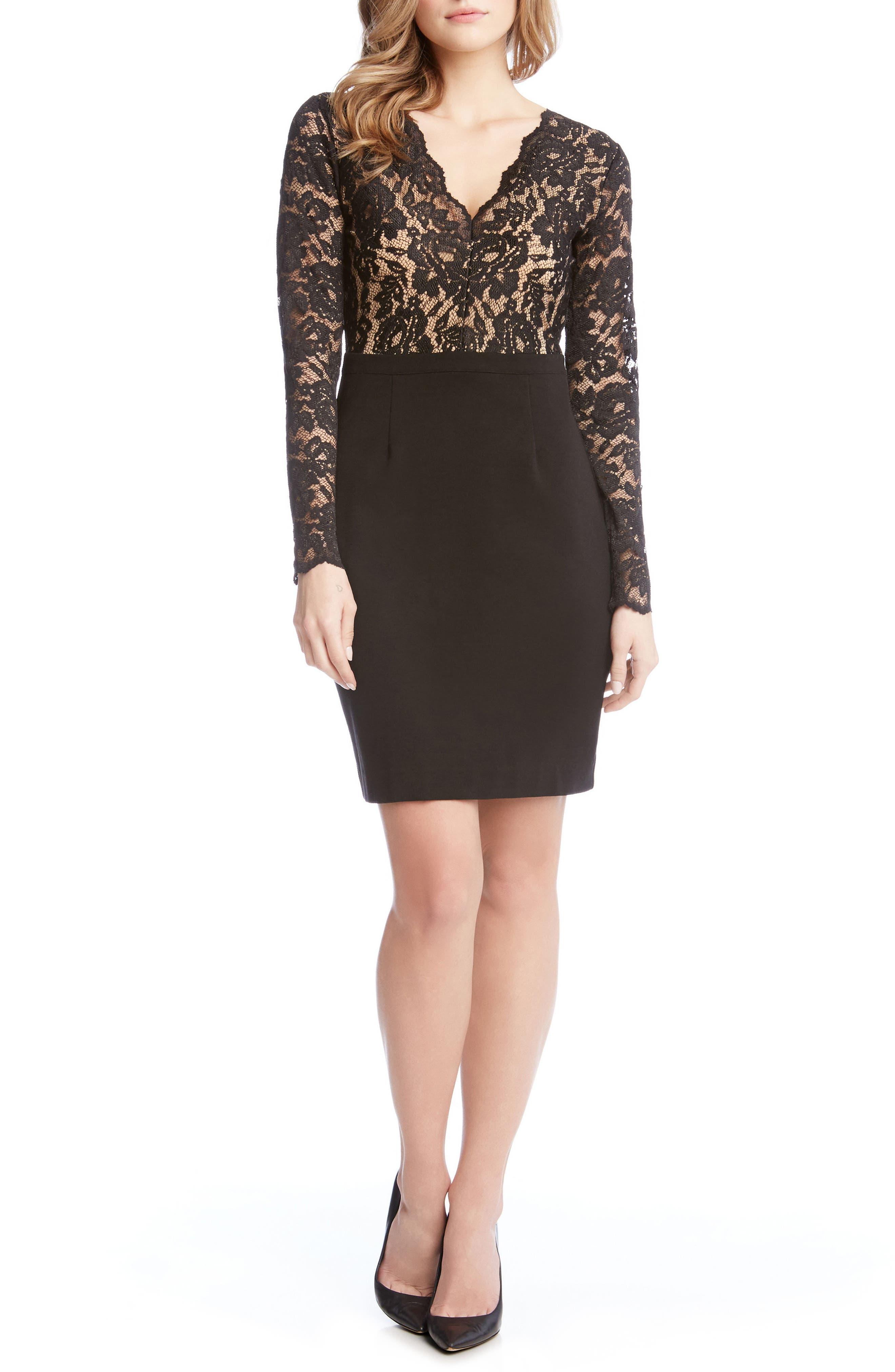 Alternate Image 4  - Karen Kane Becca Lace & Knit Sheath Dress