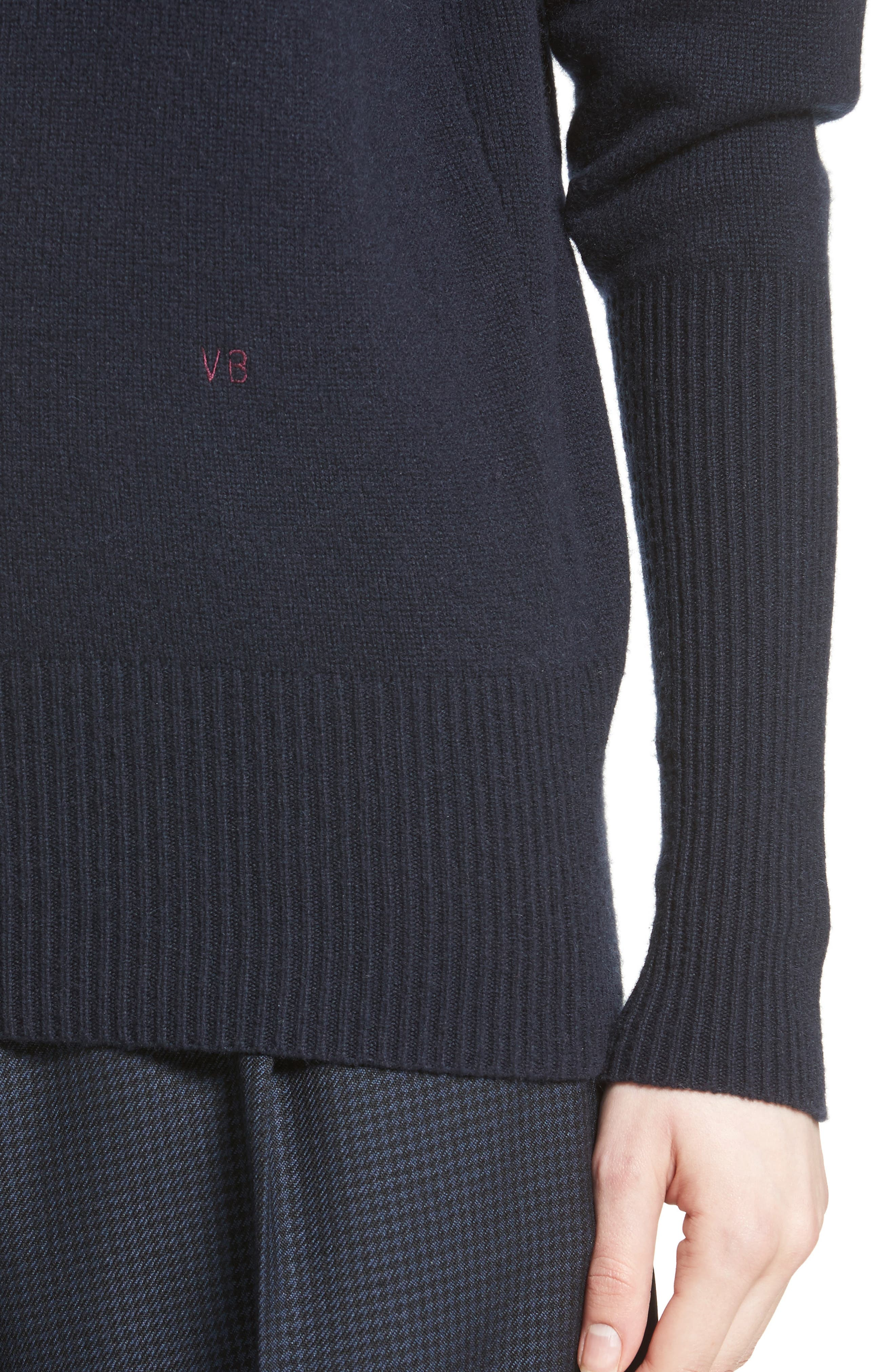 Alternate Image 5  - Victoria Beckham Cashmere Turtleneck Sweater