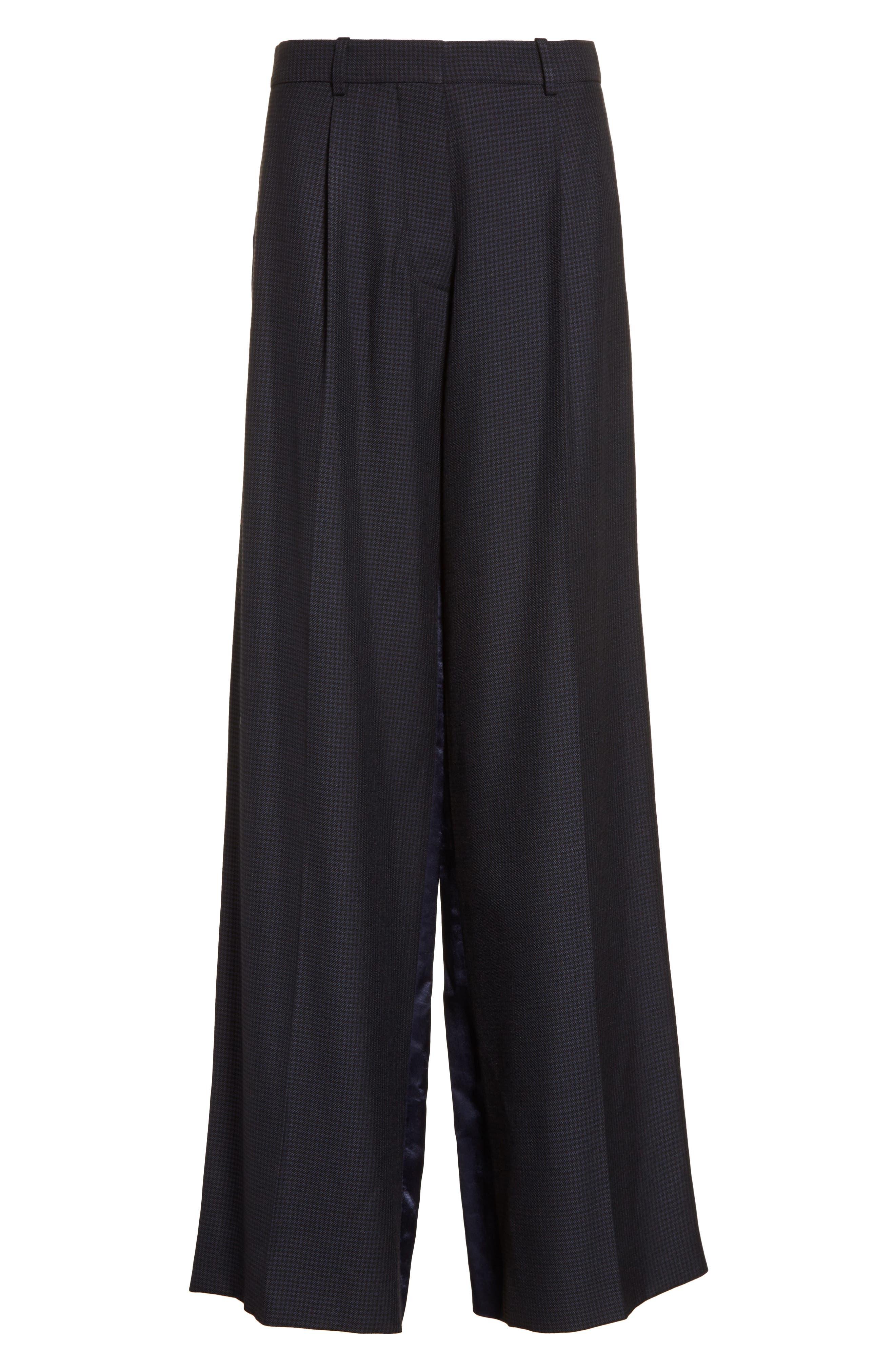 Alternate Image 5  - Victoria Beckham Houndstooth Wide Leg Pants