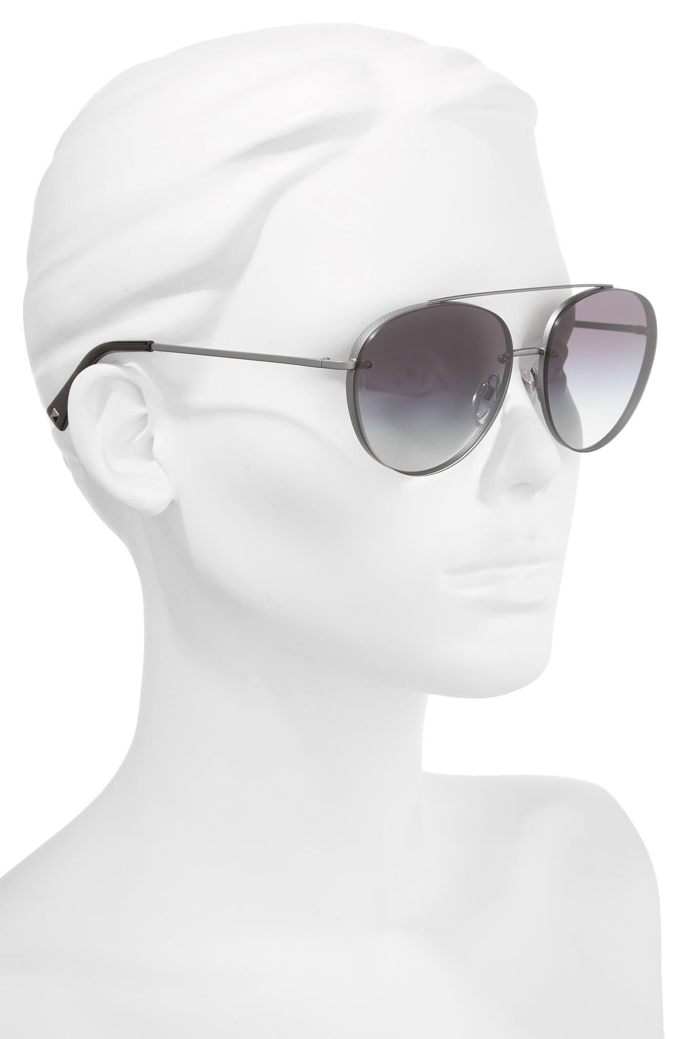 Alternate Image 2  - Valentino 58mm Gradient Aviator Sunglasses