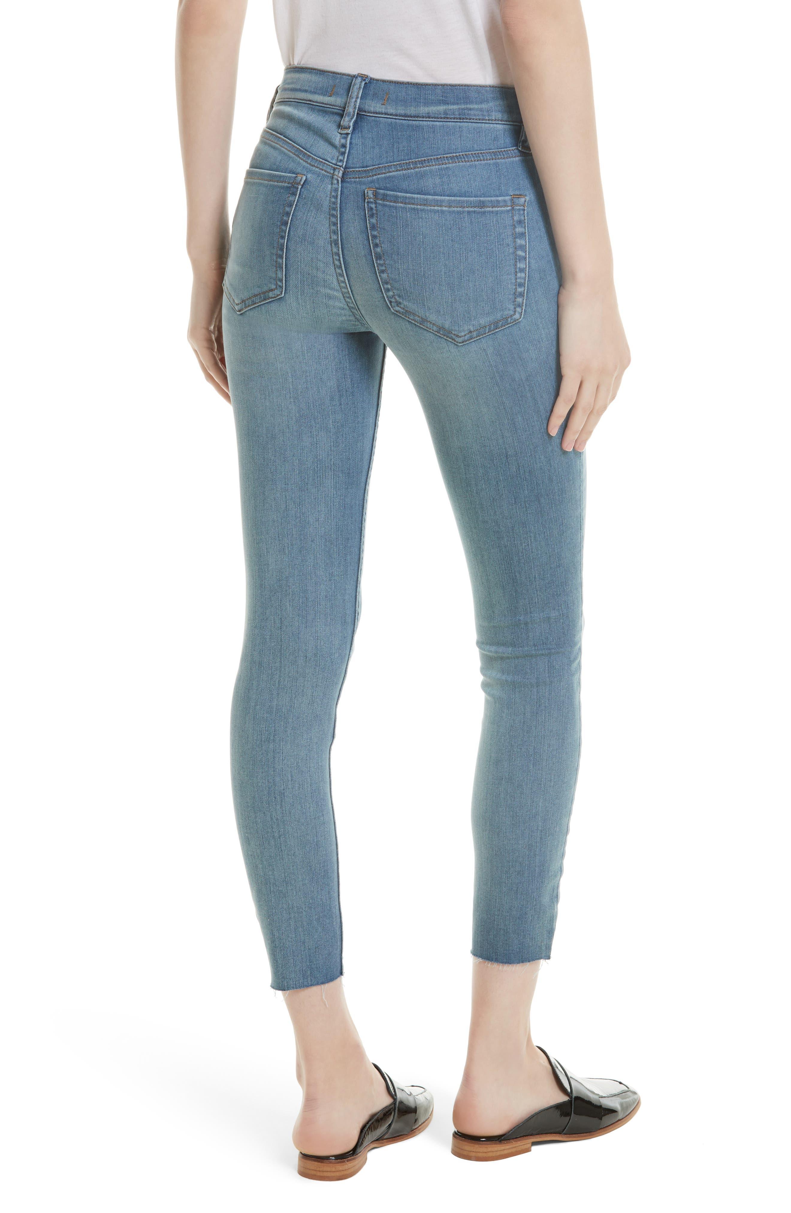 Alternate Image 2  - Free People Reagan Crop Skinny Jeans (Sky)
