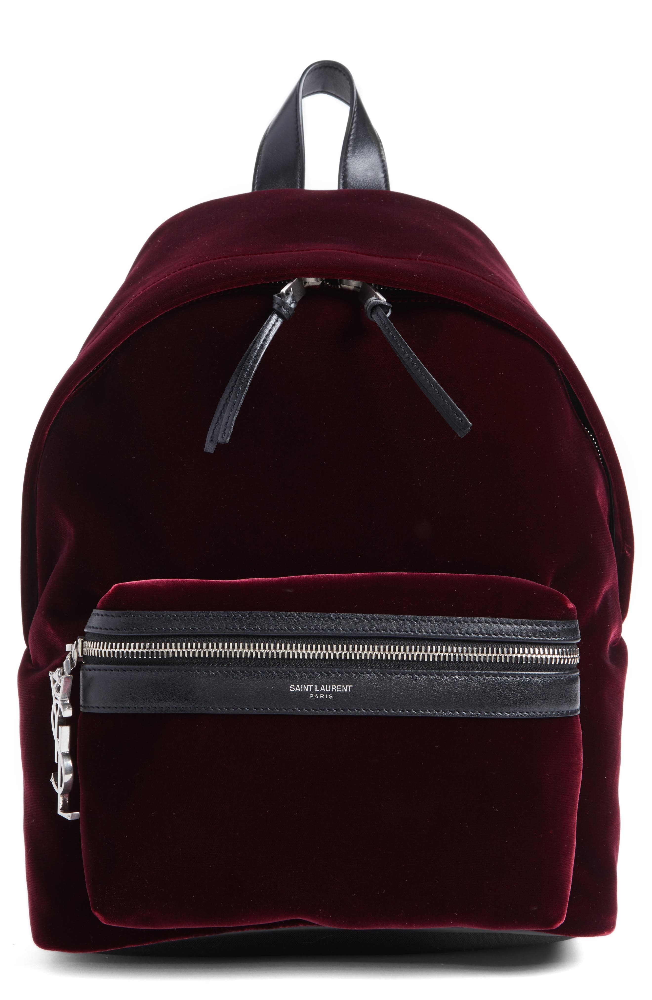 SAINT LAURENT Mini City Velour Backpack