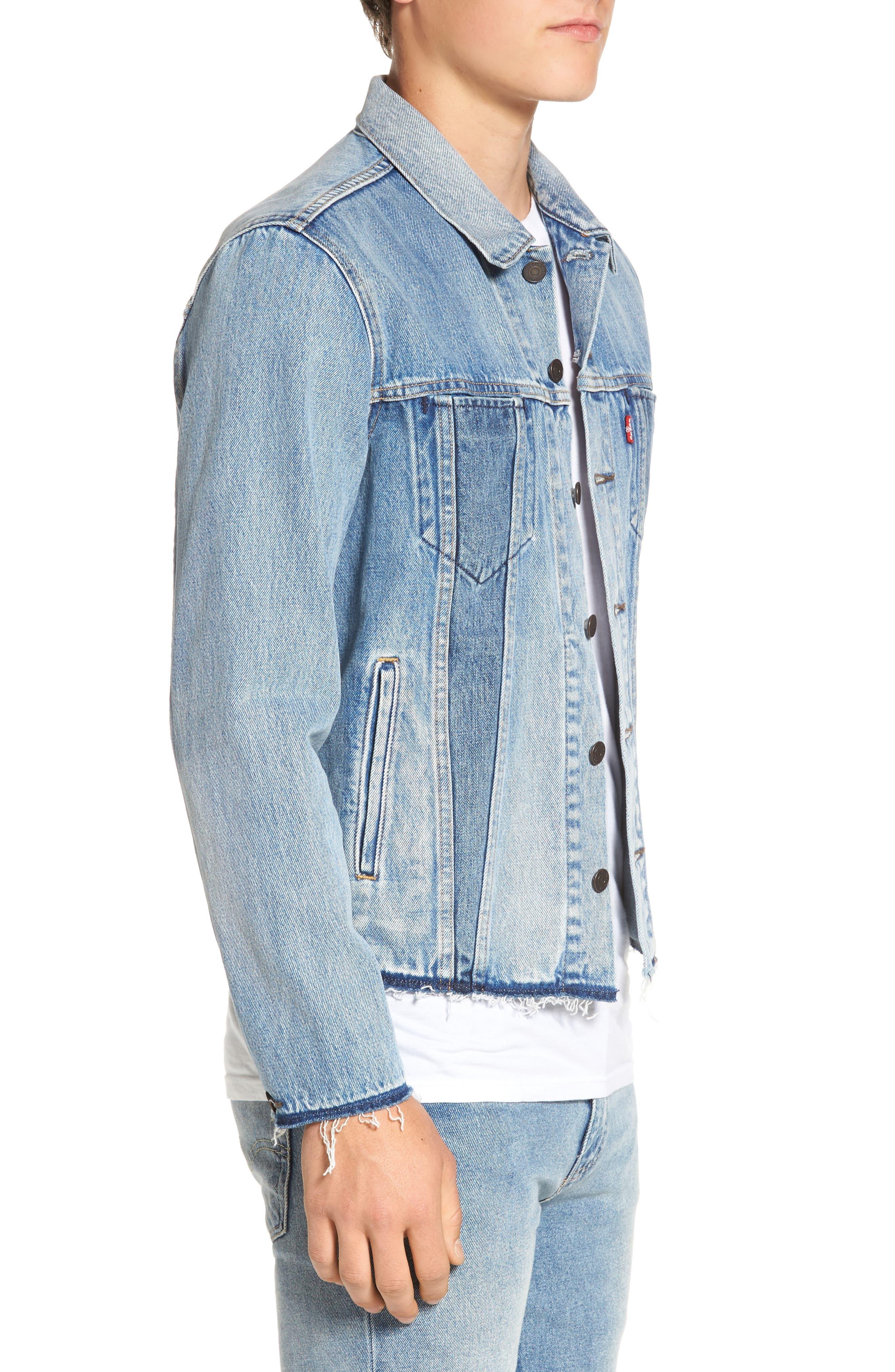 Alternate Image 3  - Levi's® Altered Distressed Denim Trucker Jacket