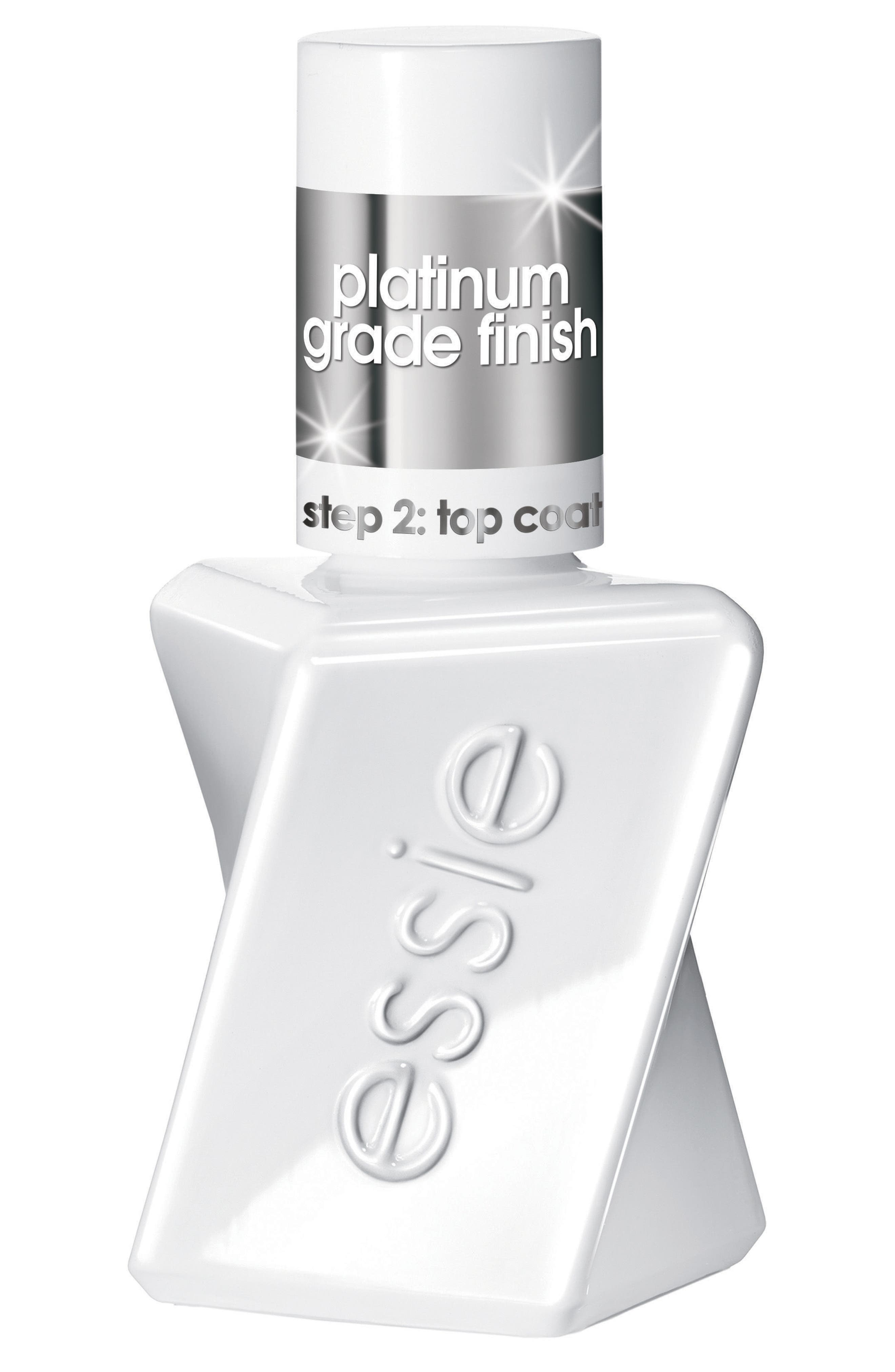 Main Image - essie® Gel Couture Platinum Top Coat