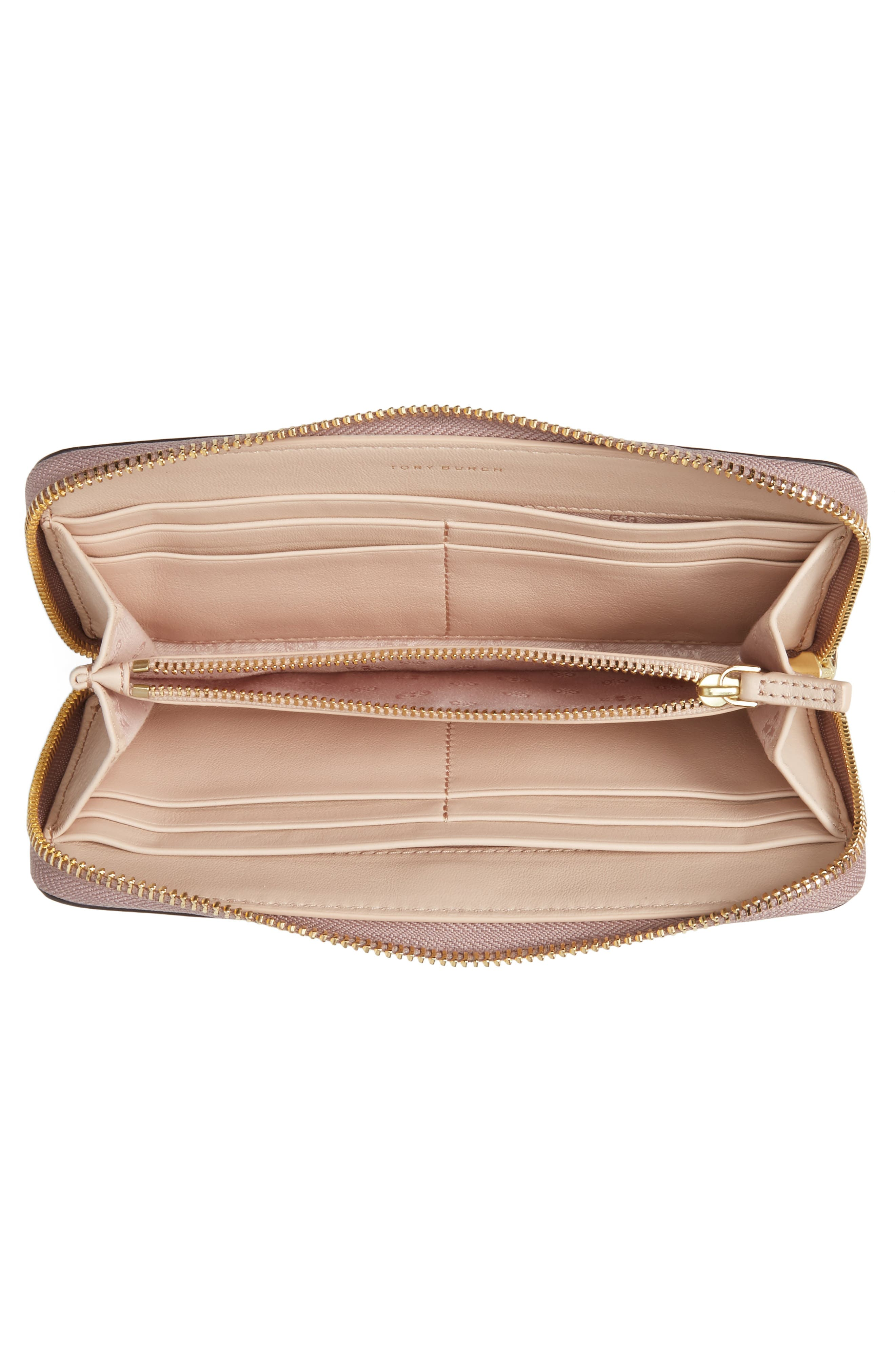 Robinson Metallic Leather Continental Wallet,                             Alternate thumbnail 2, color,                             Rose Gold