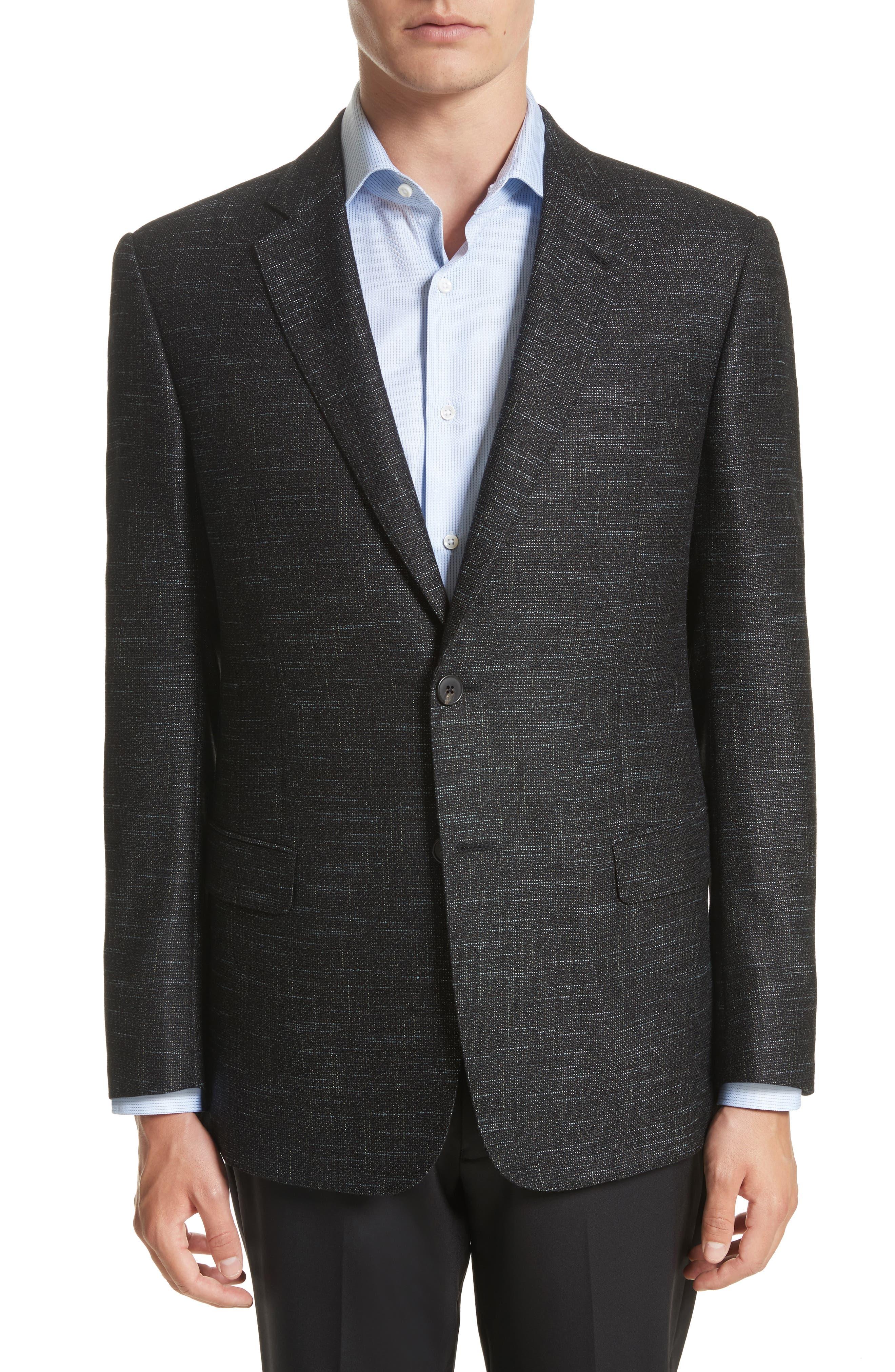 G-Line Trim Fit Wool Blend Blazer,                         Main,                         color, Celery
