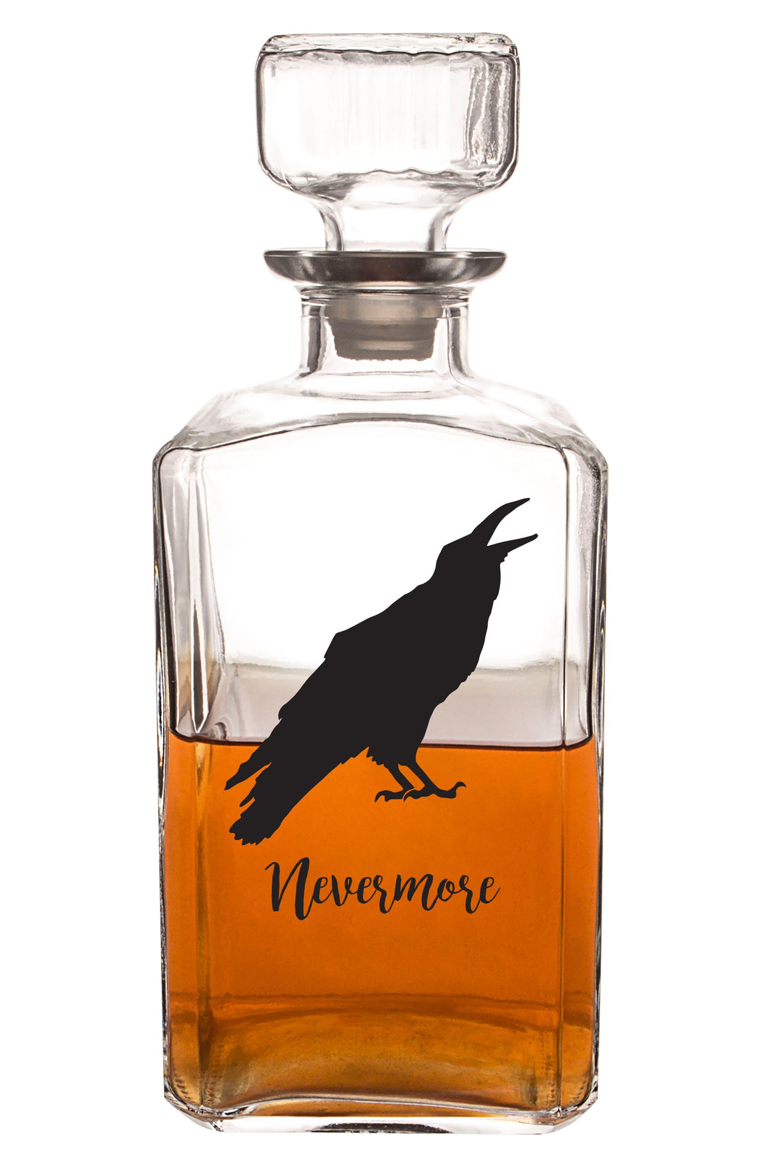 Raven Decanter,                             Alternate thumbnail 2, color,                             Black