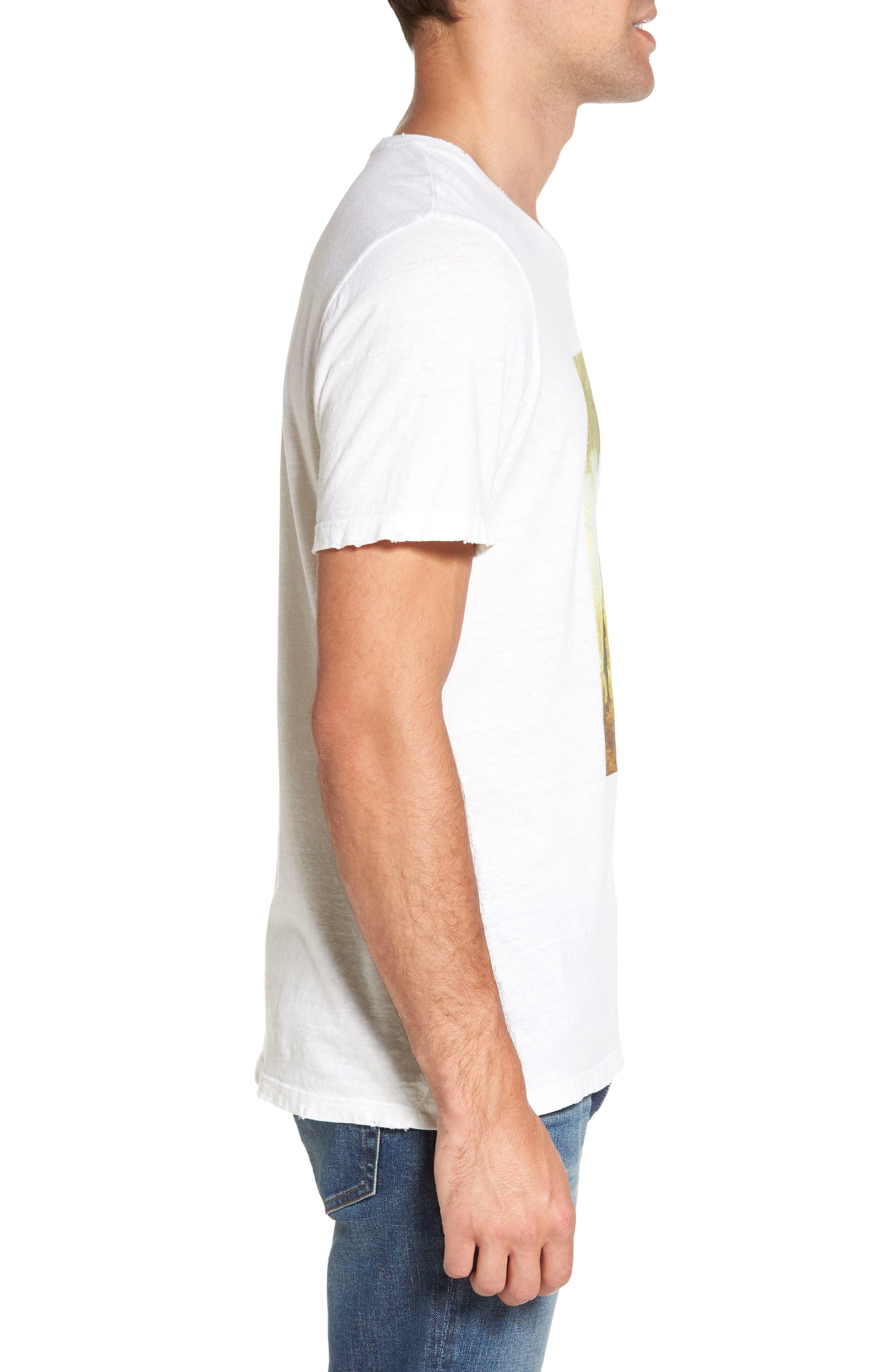 Bronco 6 T-Shirt,                             Alternate thumbnail 3, color,                             Blanc