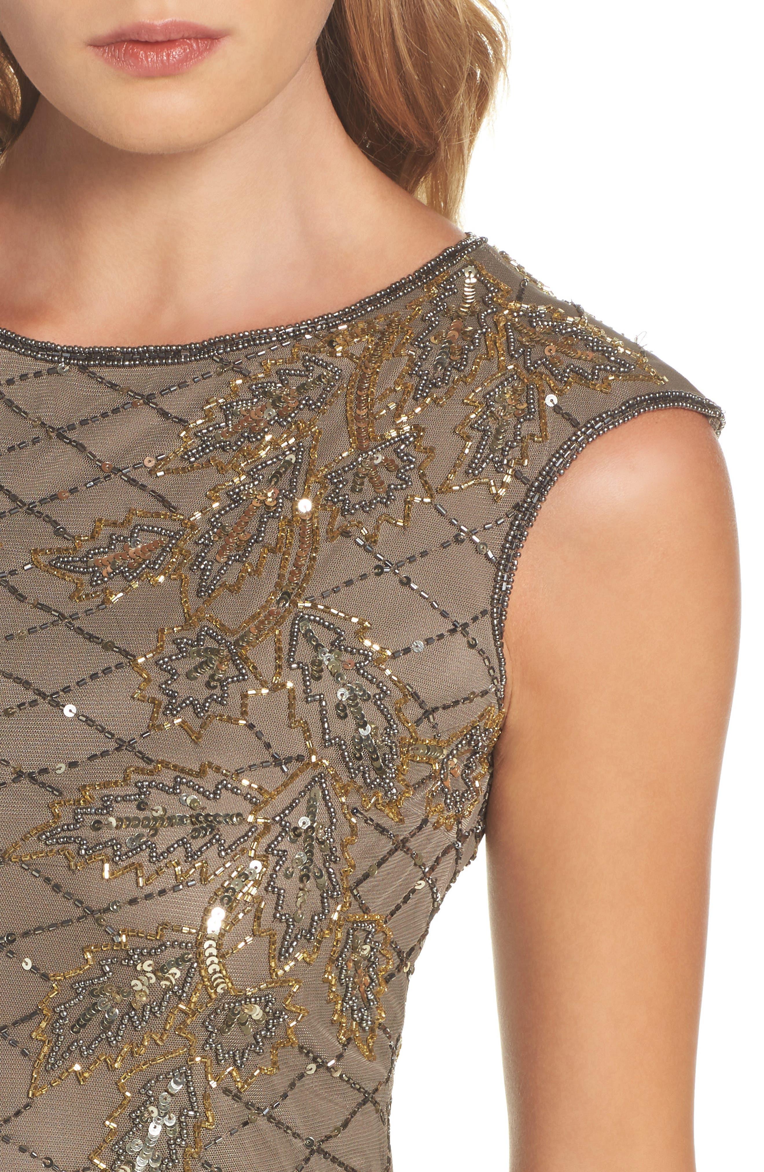 Alternate Image 4  - Pisarro Nights Flame Motif Embellished Gown (Regular & Petite)