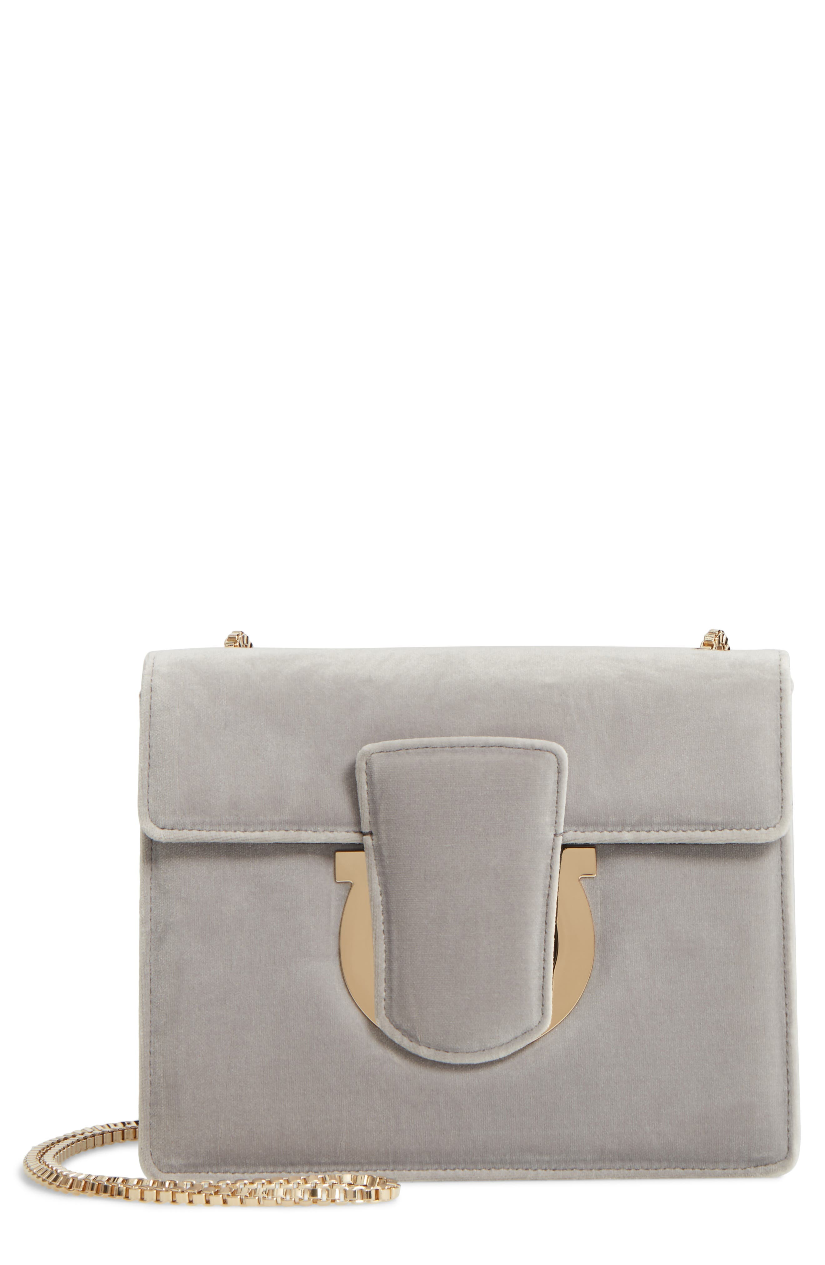 Alternate Image 1 Selected - Salvatore Ferragamo Small Thalia Velvet Crossbody Bag