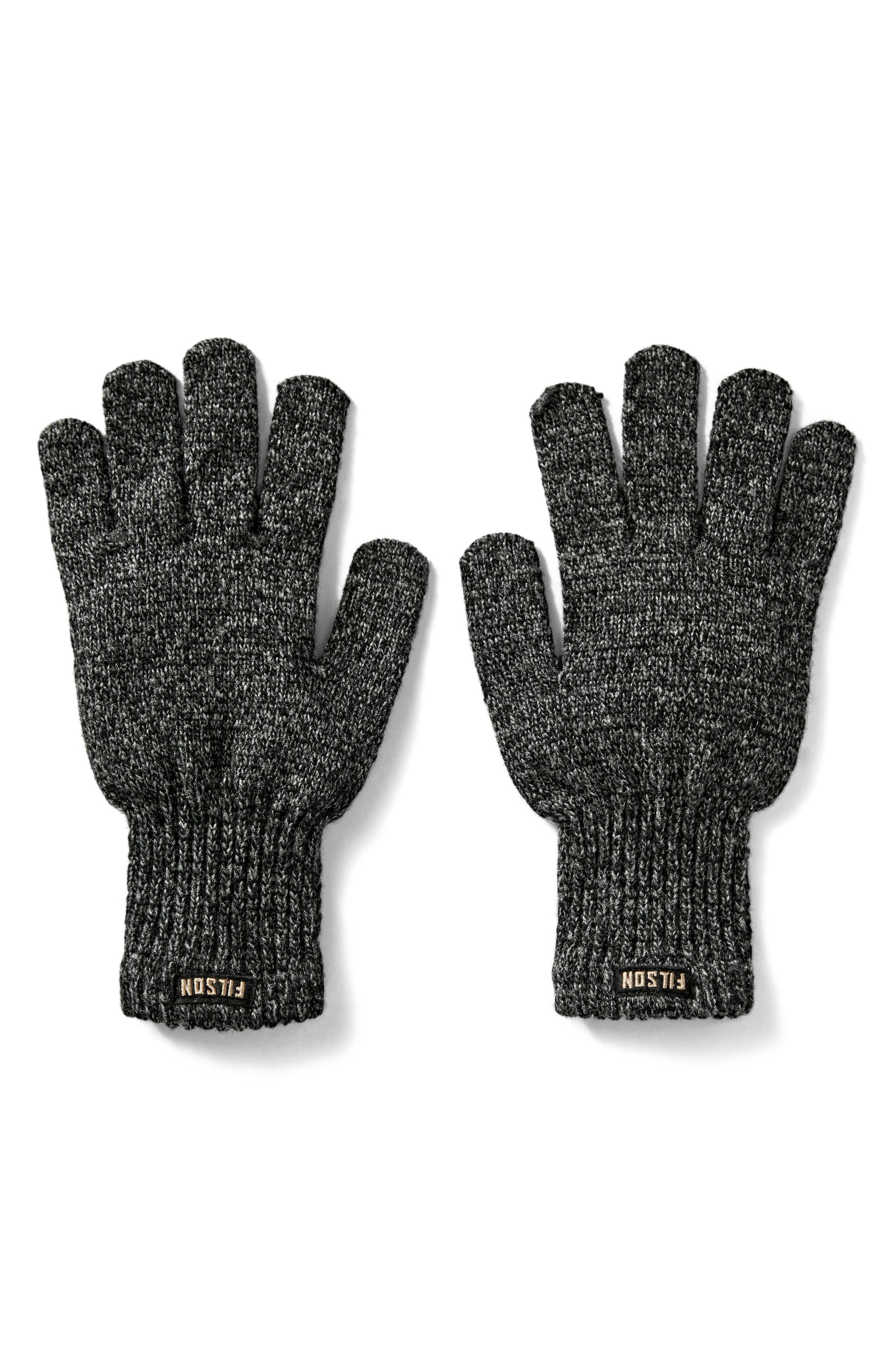 Wool Blend Knit Gloves,                             Main thumbnail 1, color,                             Charcoal