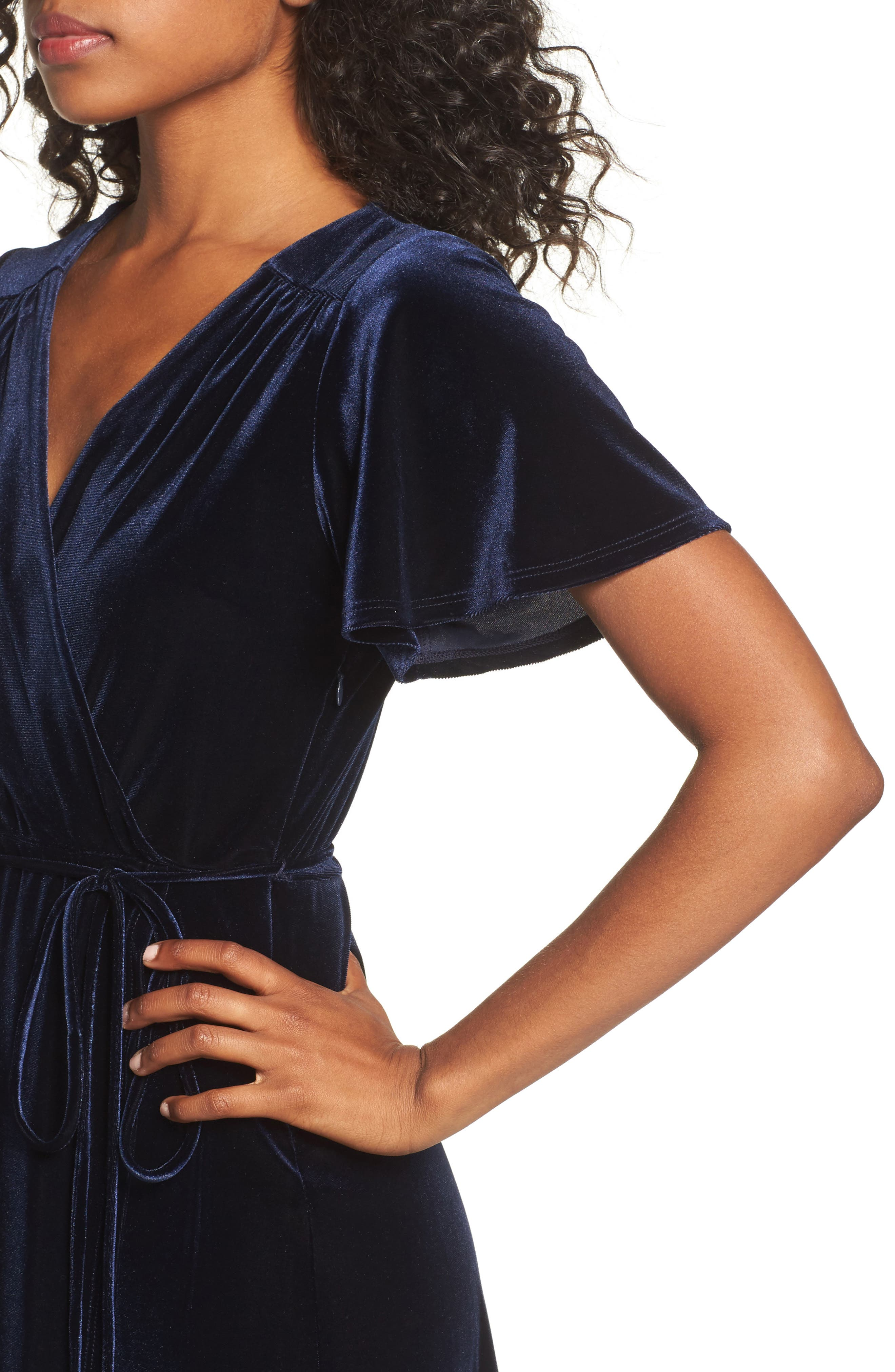 Alternate Image 4  - Chelsea28 Velvet Midi Dress