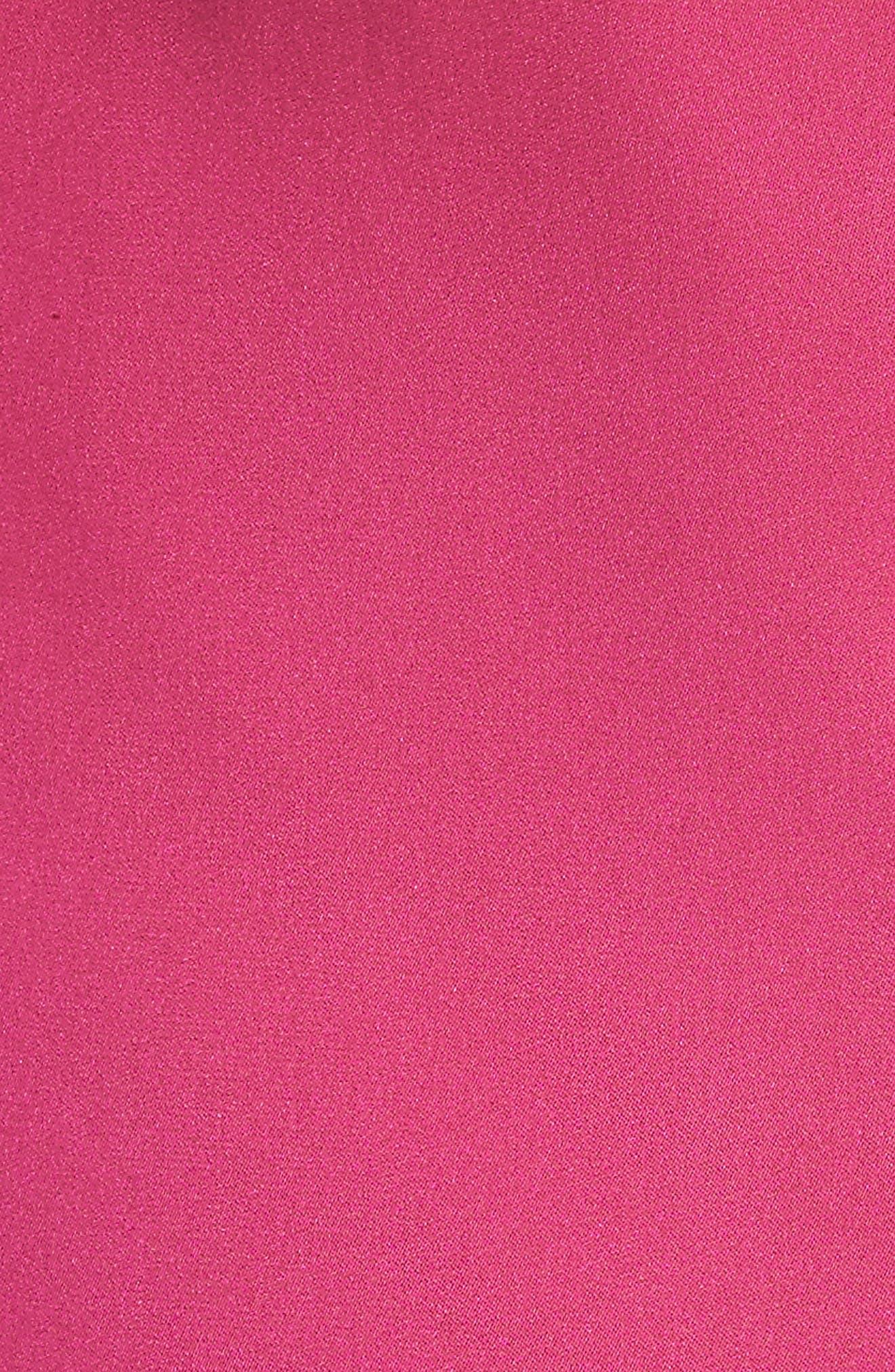 Alternate Image 5  - Alice + Olivia Luna Lace Trim Stretch Silk Slipdress
