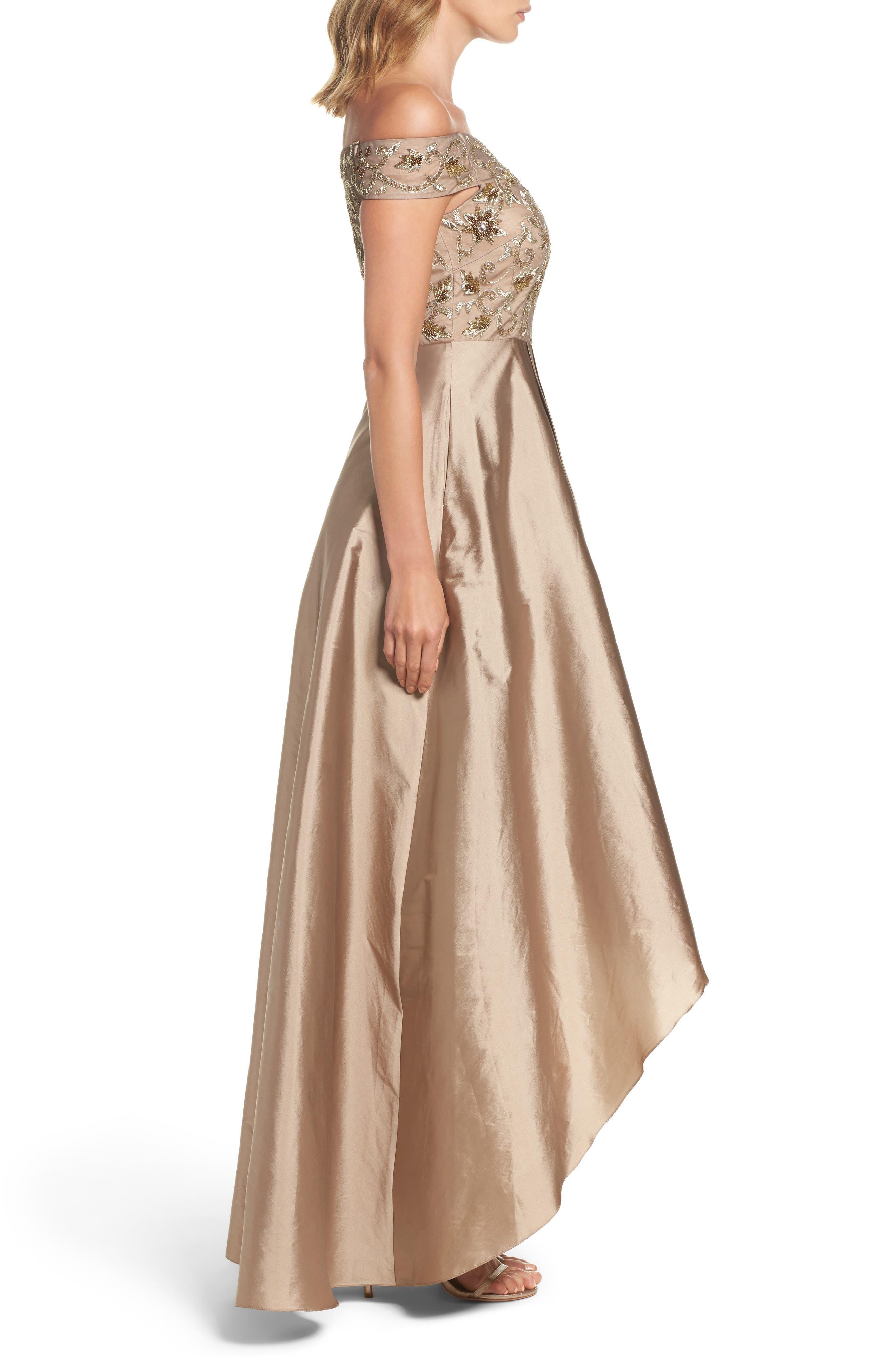 Alternate Image 3  - Adrianna Papell Embellished High/Low Off the Shoulder Dress