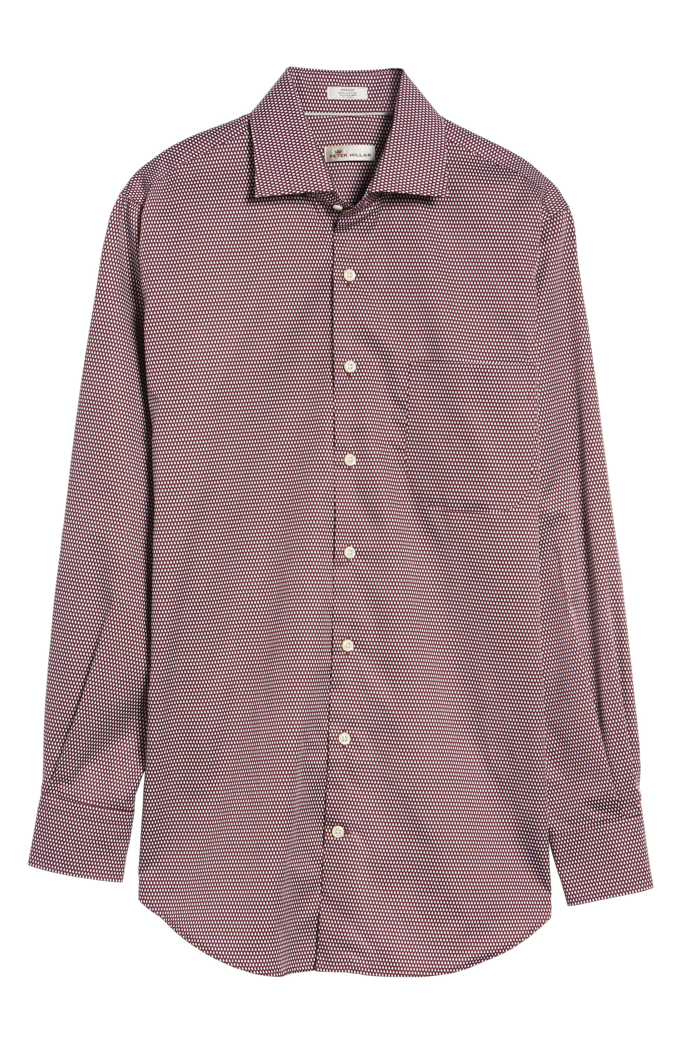 Single Flame Regular Fit Sport Shirt,                             Alternate thumbnail 6, color,                             French Wine