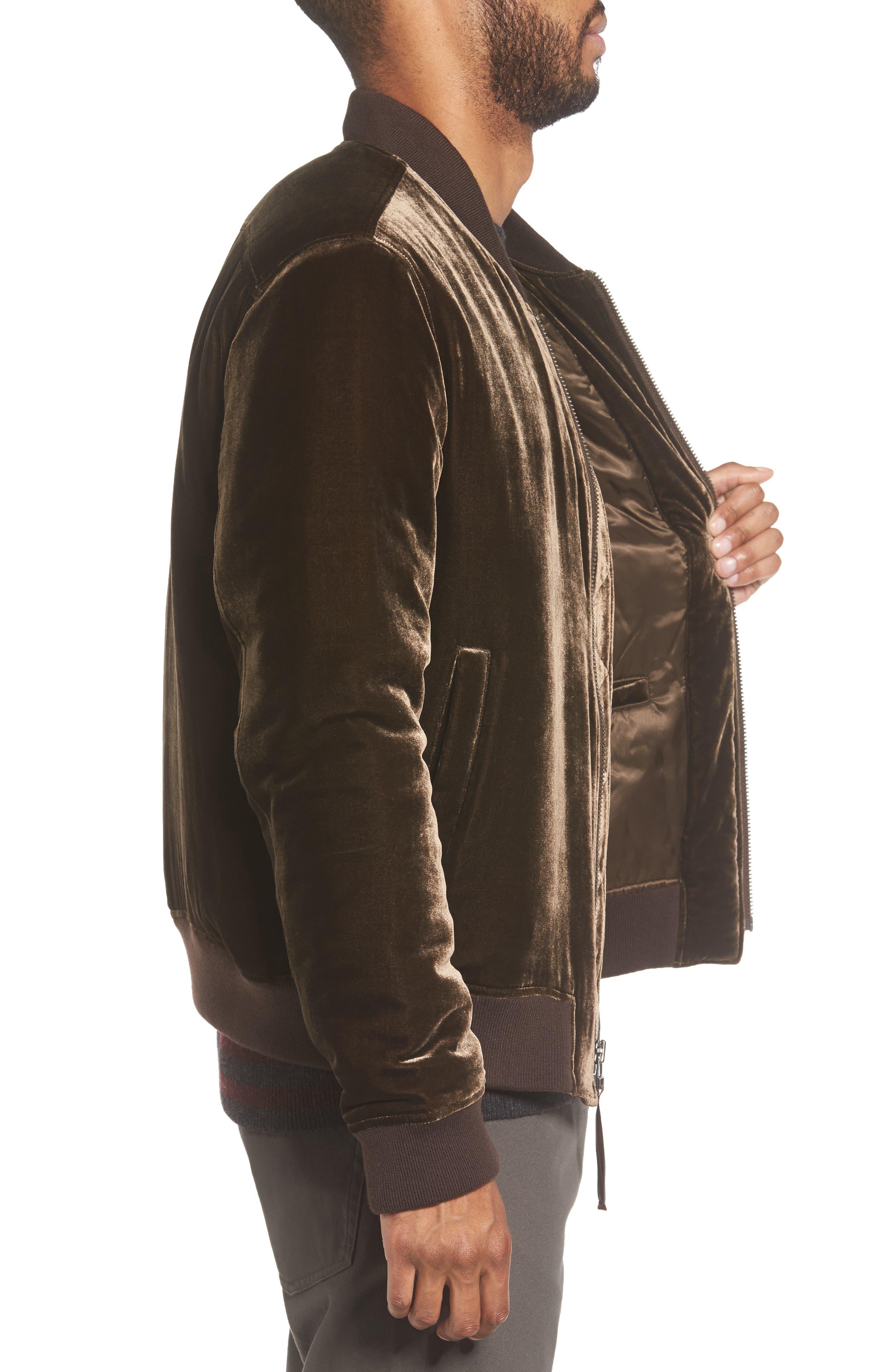 Alternate Image 3  - Vince Velvet Bomber Jacket