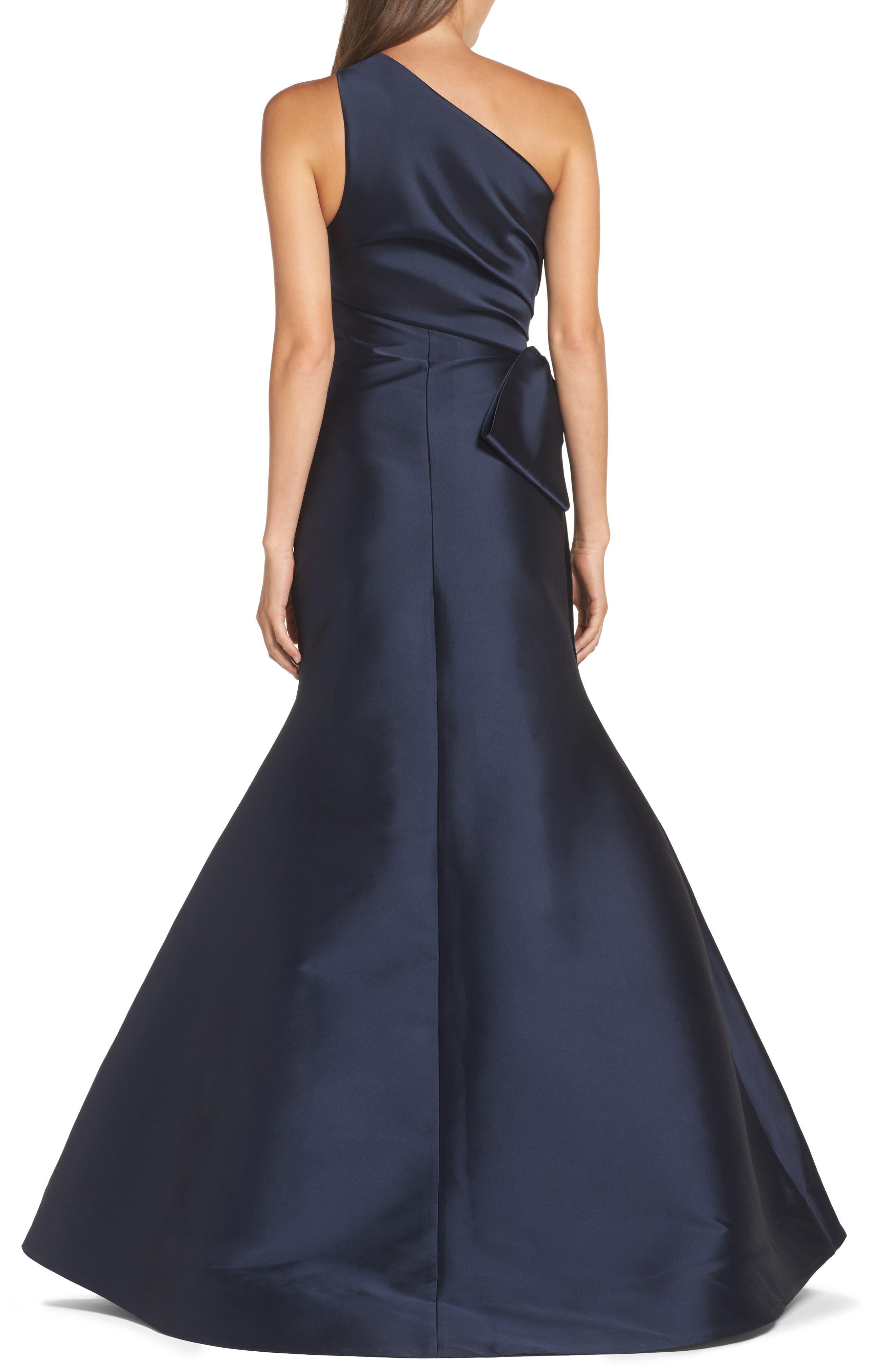 Alternate Image 2  - Sachin & Babi Noir Vanessa One-Shoulder Gown
