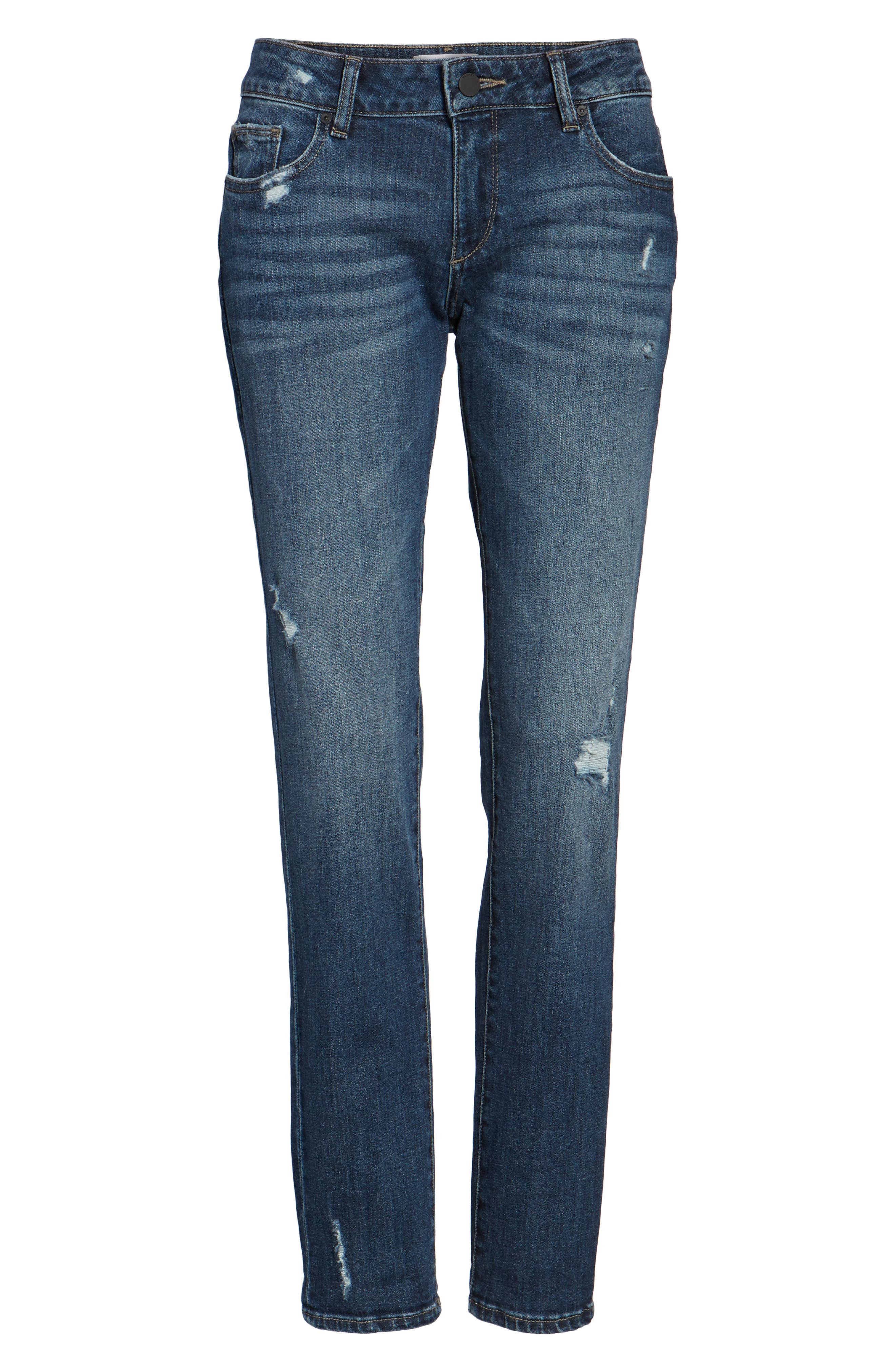Alternate Image 6  - DL1961 Riley Boyfriend Jeans (Hayden)