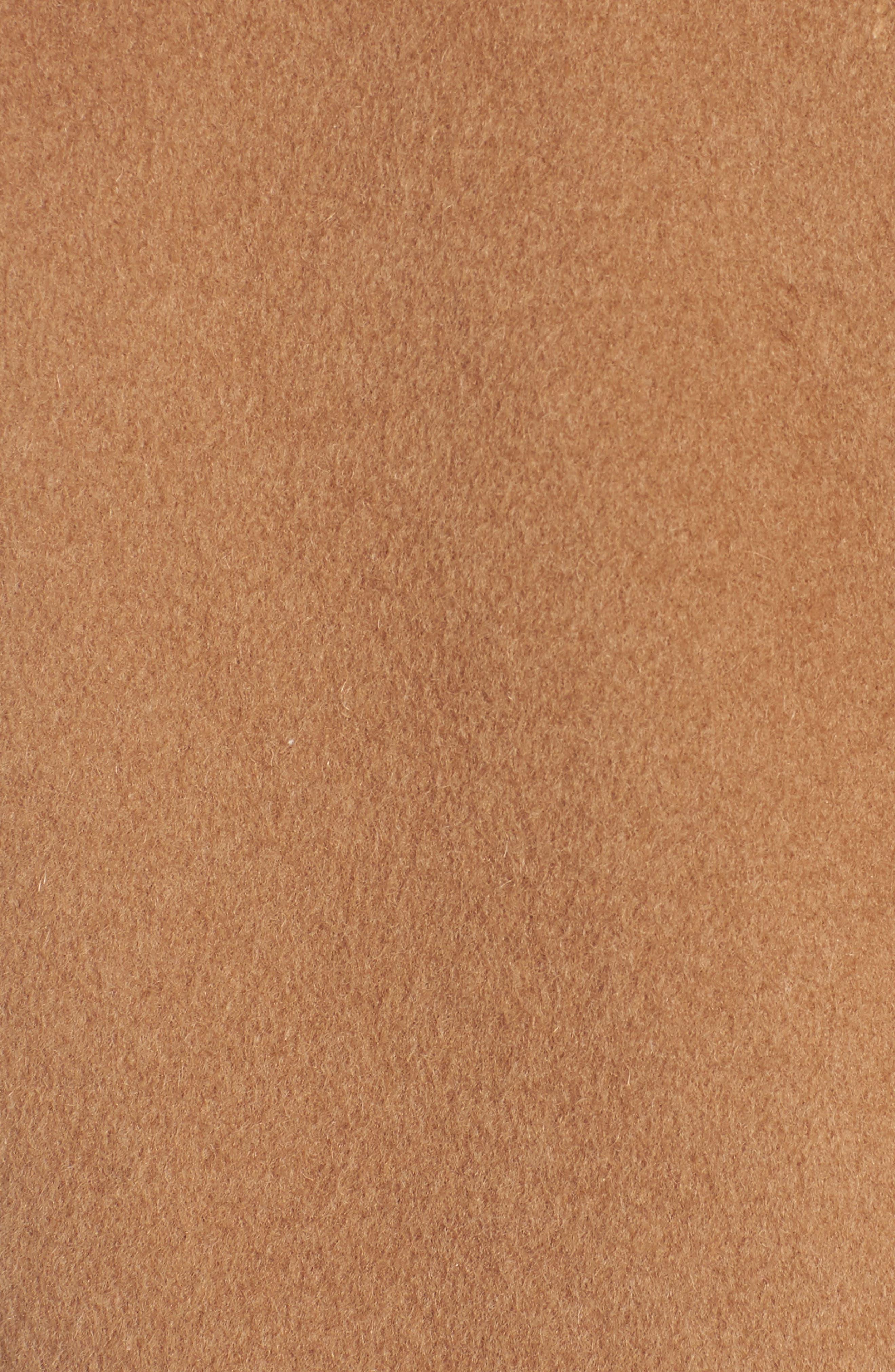 Alternate Image 6  - Trina Turk Dawn Genuine Shearling Collar Double Face Coat (Regular & Petite)