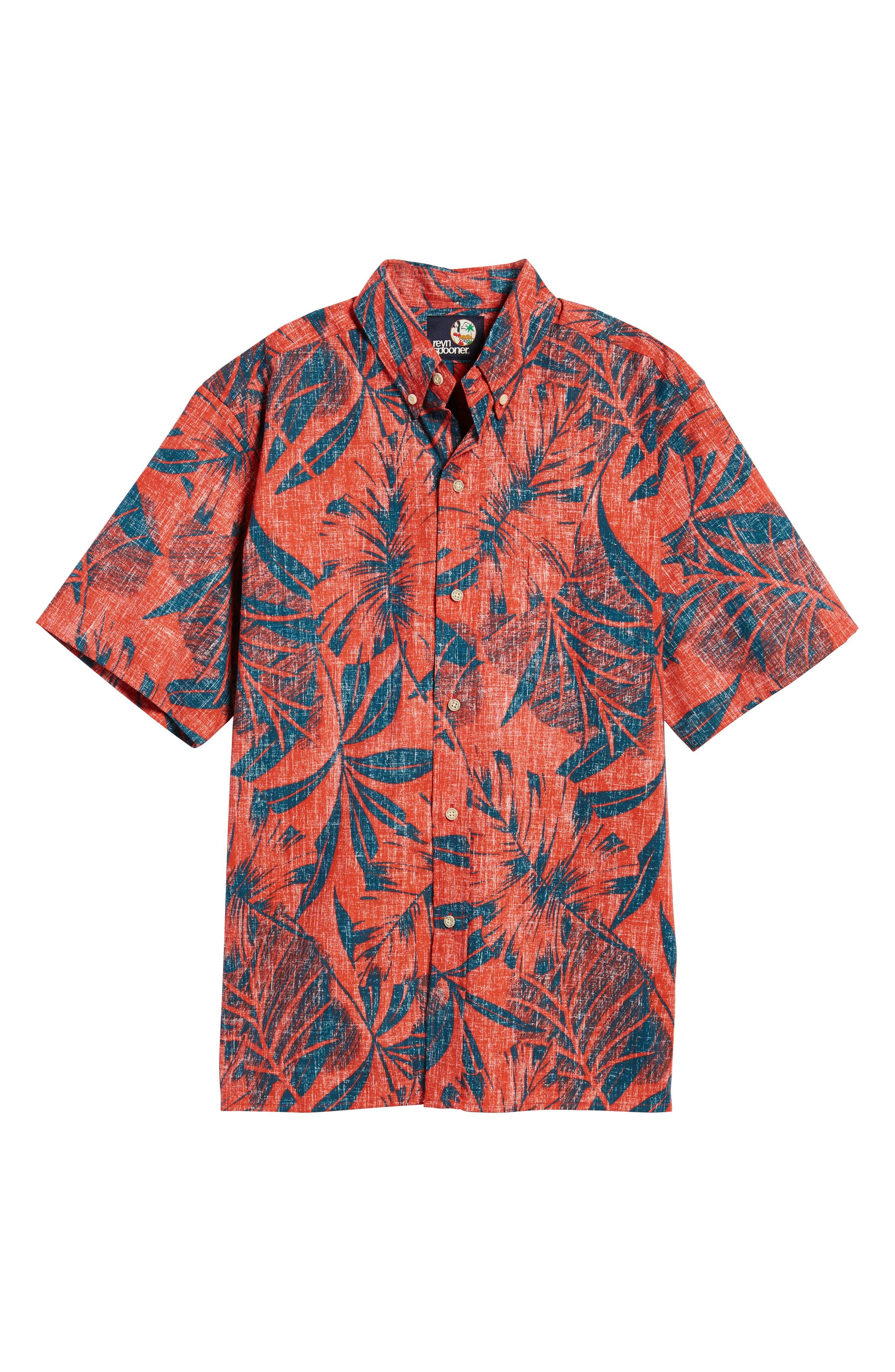 Kaha Lau Classic Fit Sport Shirt,                             Alternate thumbnail 6, color,                             Coral