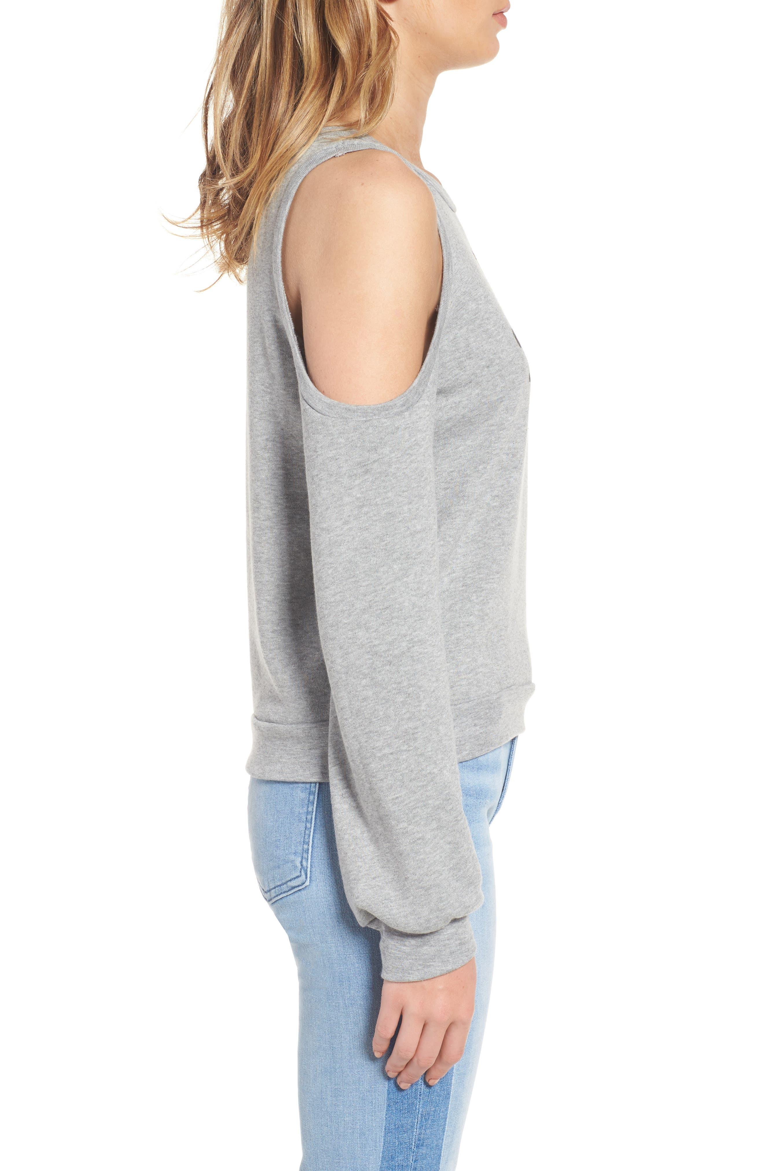 Alternate Image 3  - PST by Project Social T The Blonde Cold Shoulder Sweatshirt