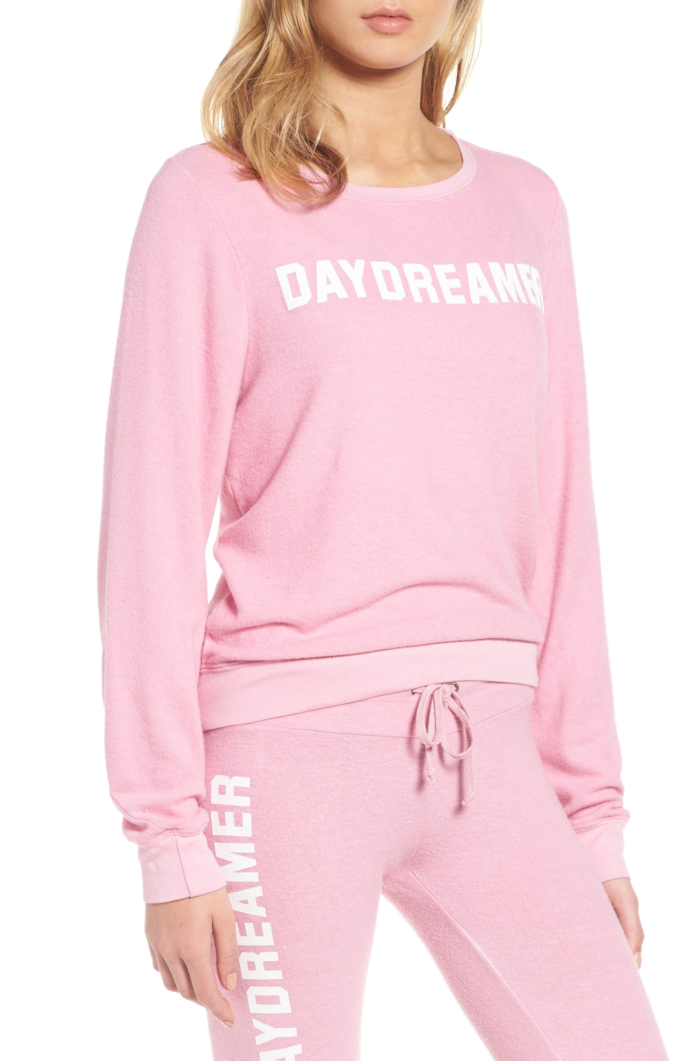 Daydreamer Sweatshirt,                         Main,                         color, Pink