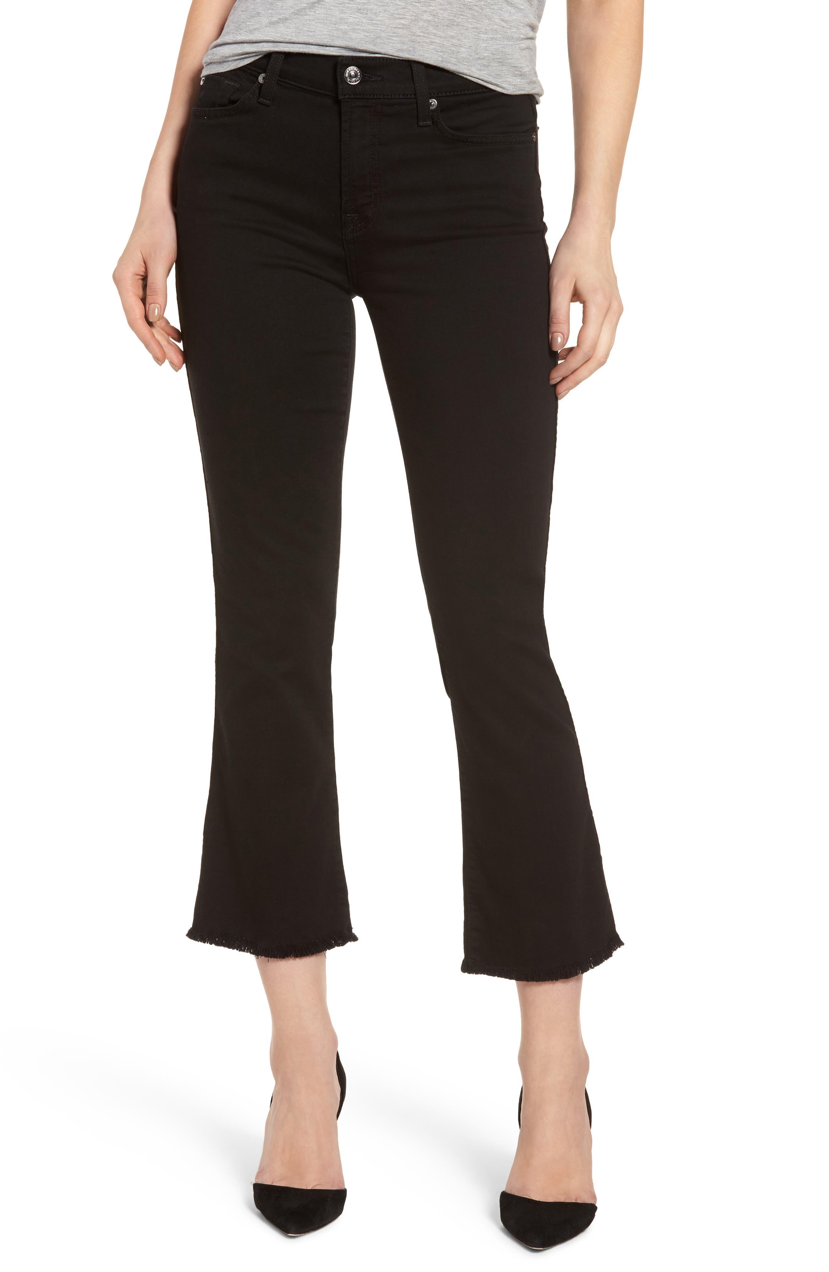 Main Image - 7 For All Mankind® b(air) Crop Bootcut Jeans (b(air) Black)