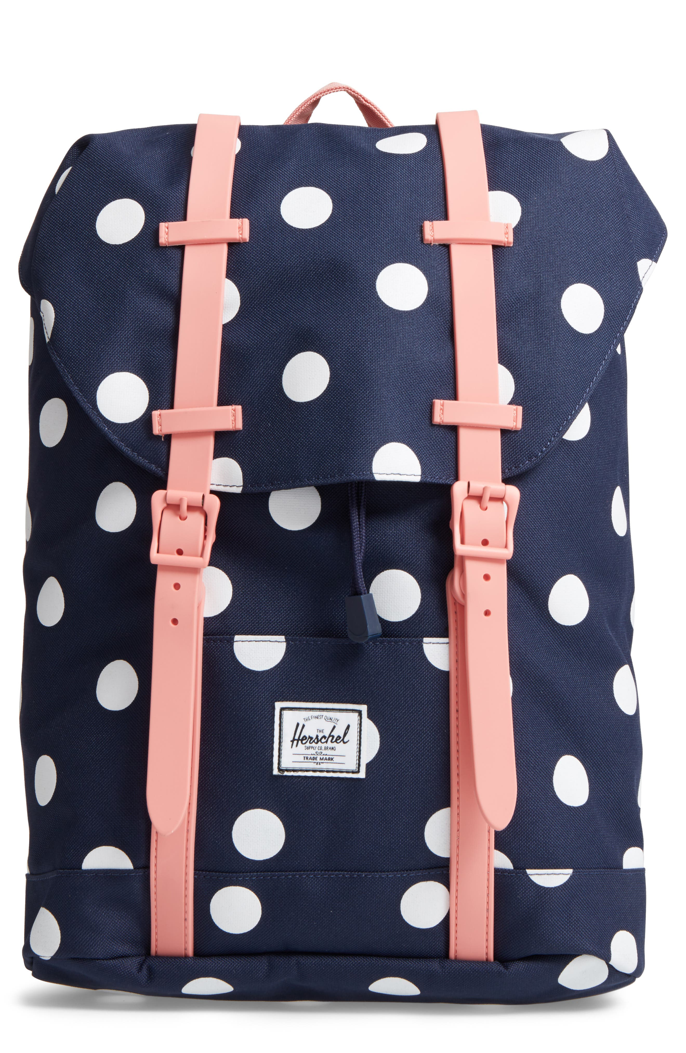 Retreat Backpack,                         Main,                         color, Polka Dot/ Strawberry