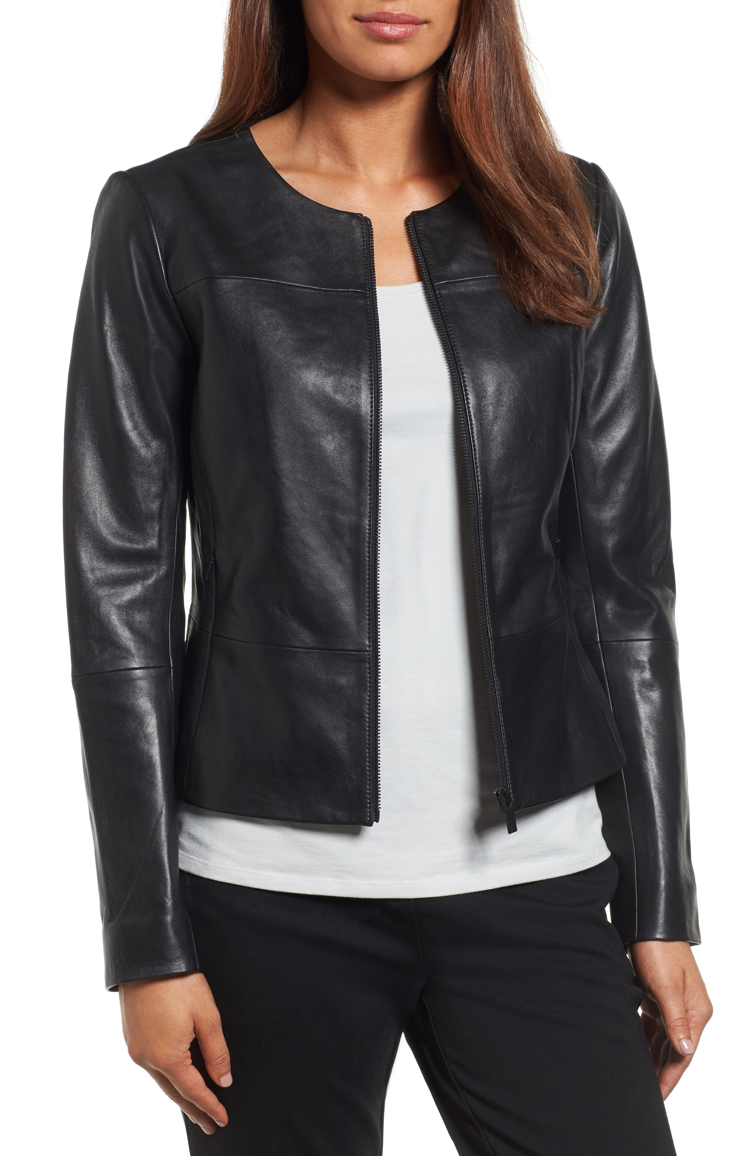 Emerson Rose Peplum Leather Jacket