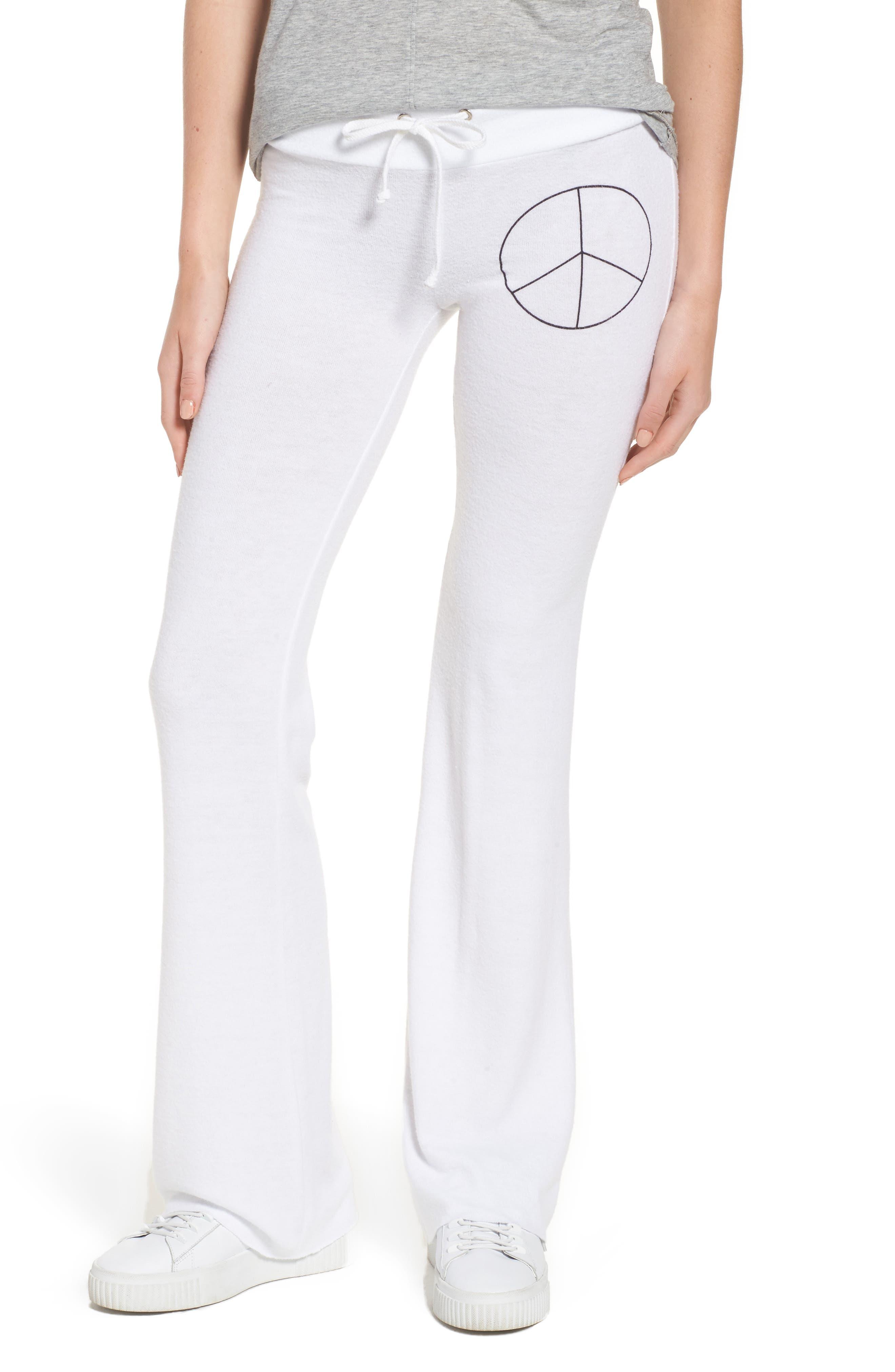 Peace Track Pants,                         Main,                         color, White