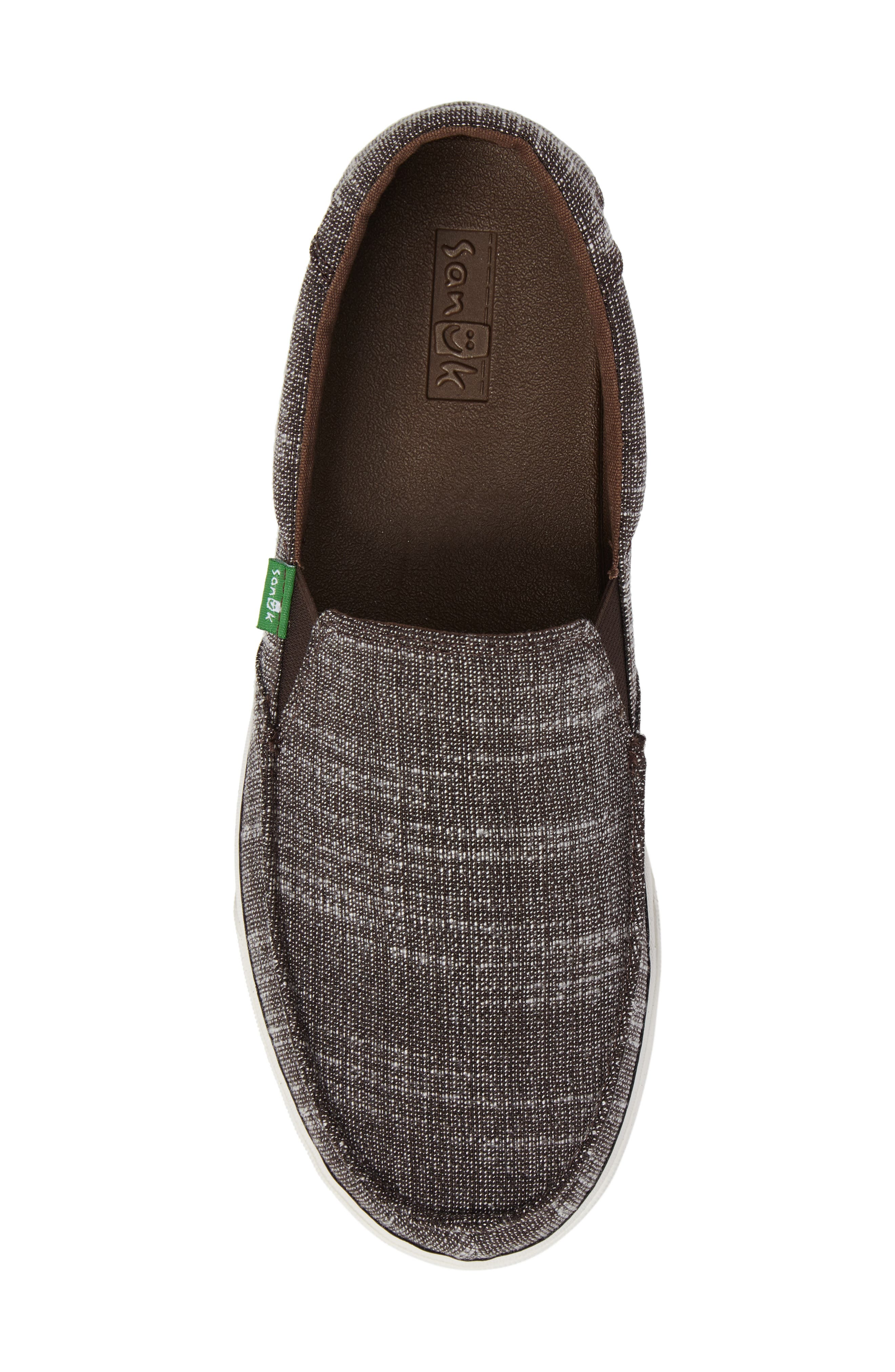 'Sideline' Linen Slip-On,                             Alternate thumbnail 5, color,                             Brown