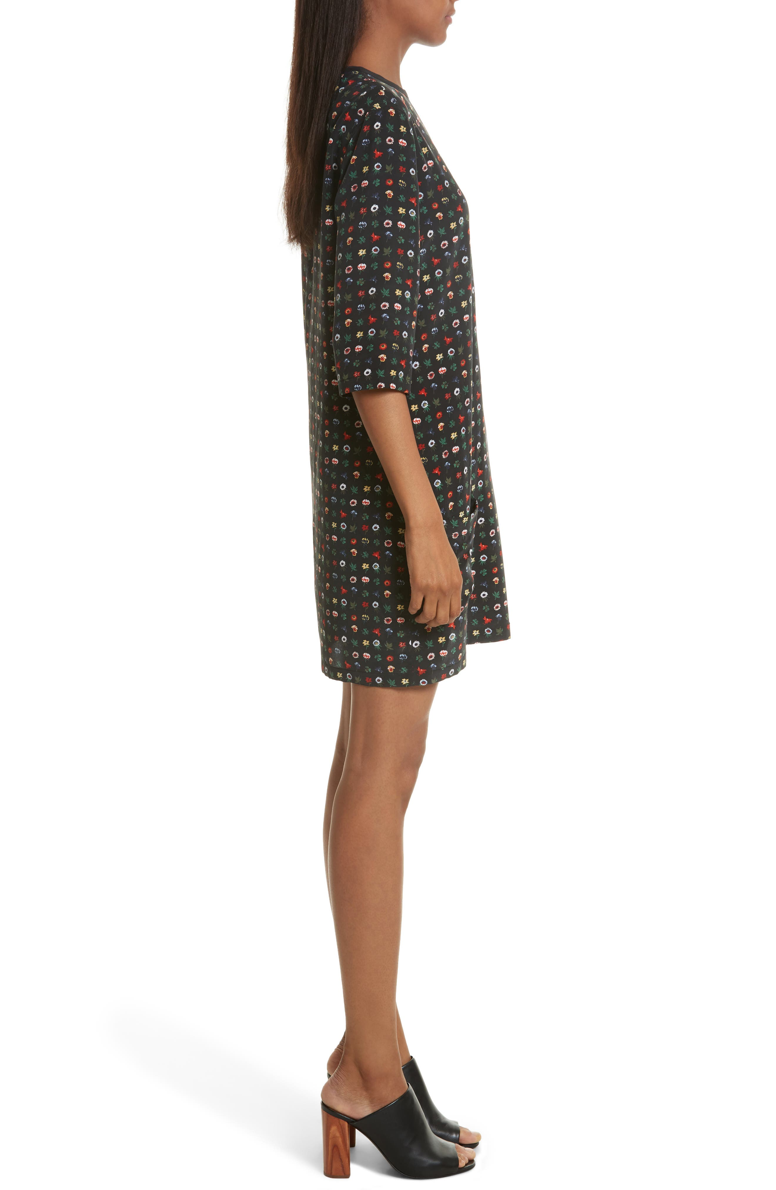 Alternate Image 3  - Equipment Aubrey Floral Silk Shift Dress