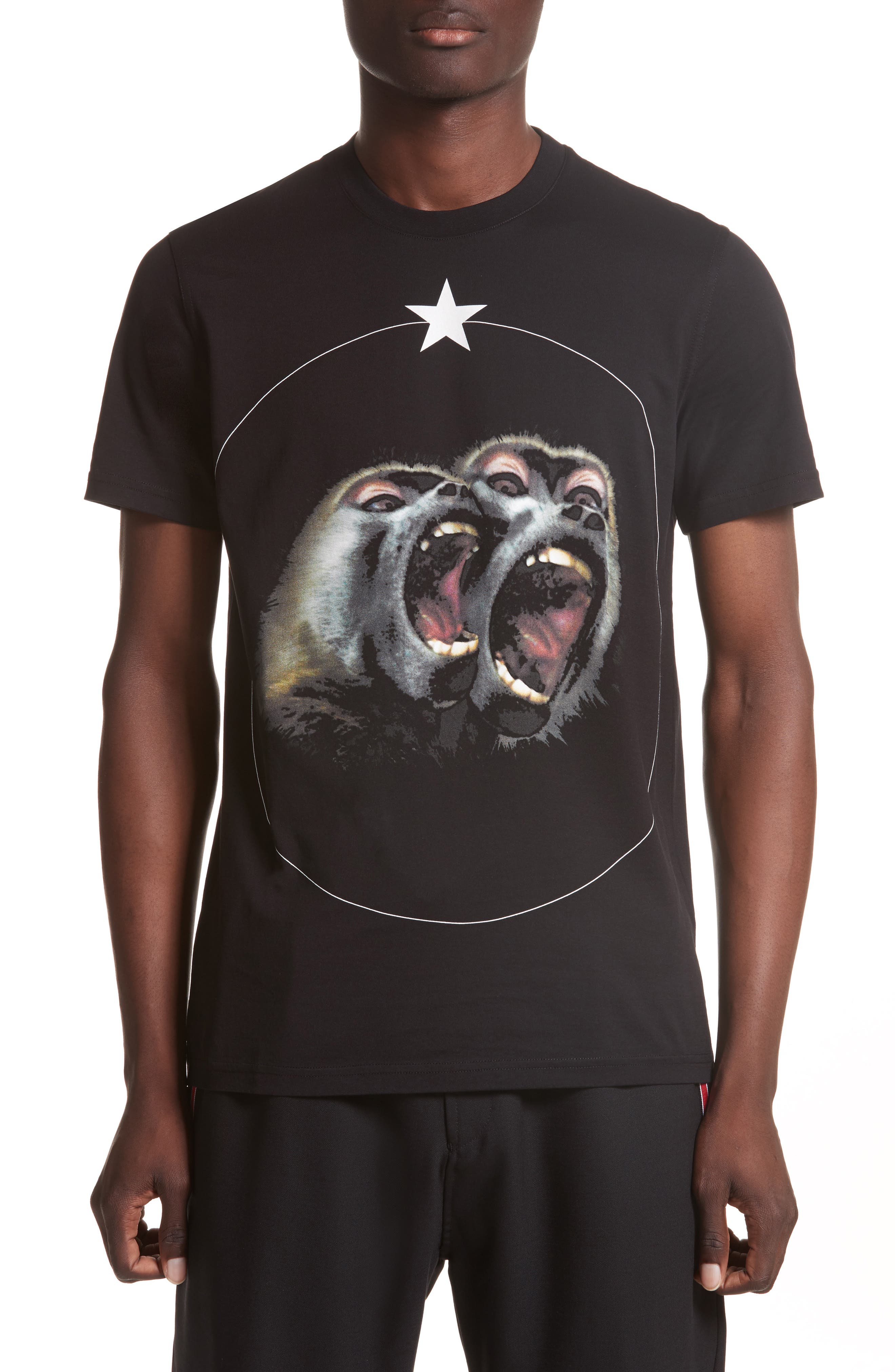 Givenchy Cuban Fit Monkey Brothers Graphic T-Shirt