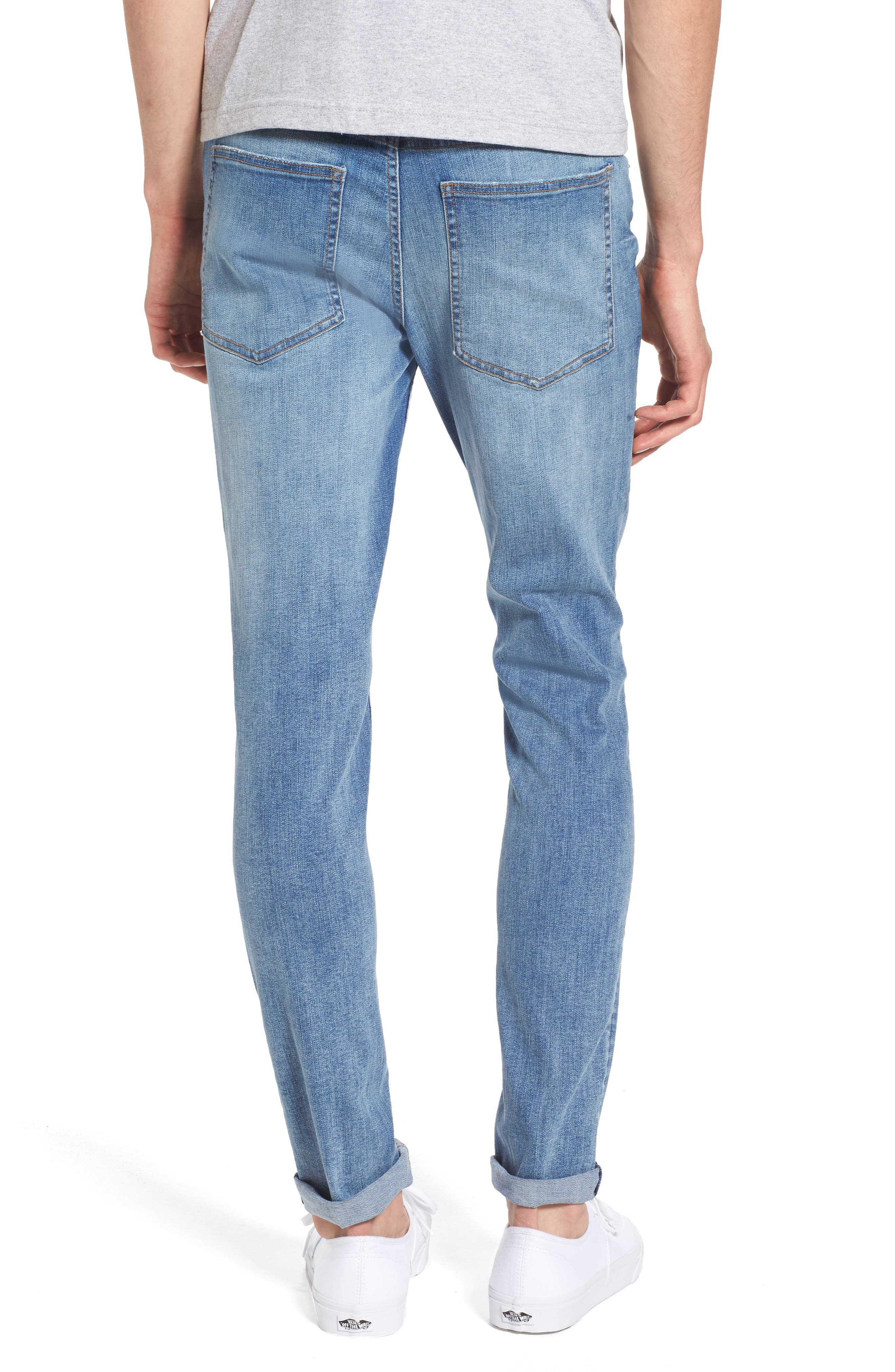 Alternate Image 2  - Cheap Monday Tight Skinny Fit Jeans (Dug Up Blue)