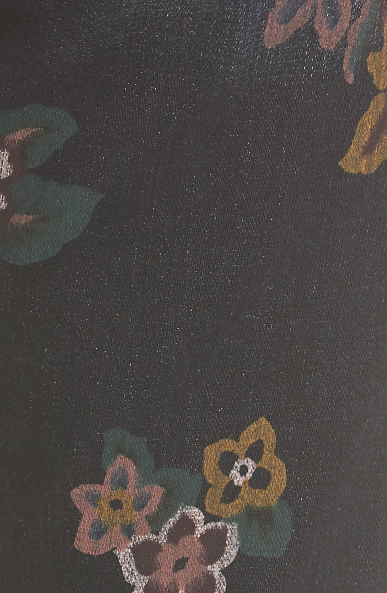 Roxanne Floral Print Ankle Slim Jeans,                             Alternate thumbnail 5, color,                             Print On Noir