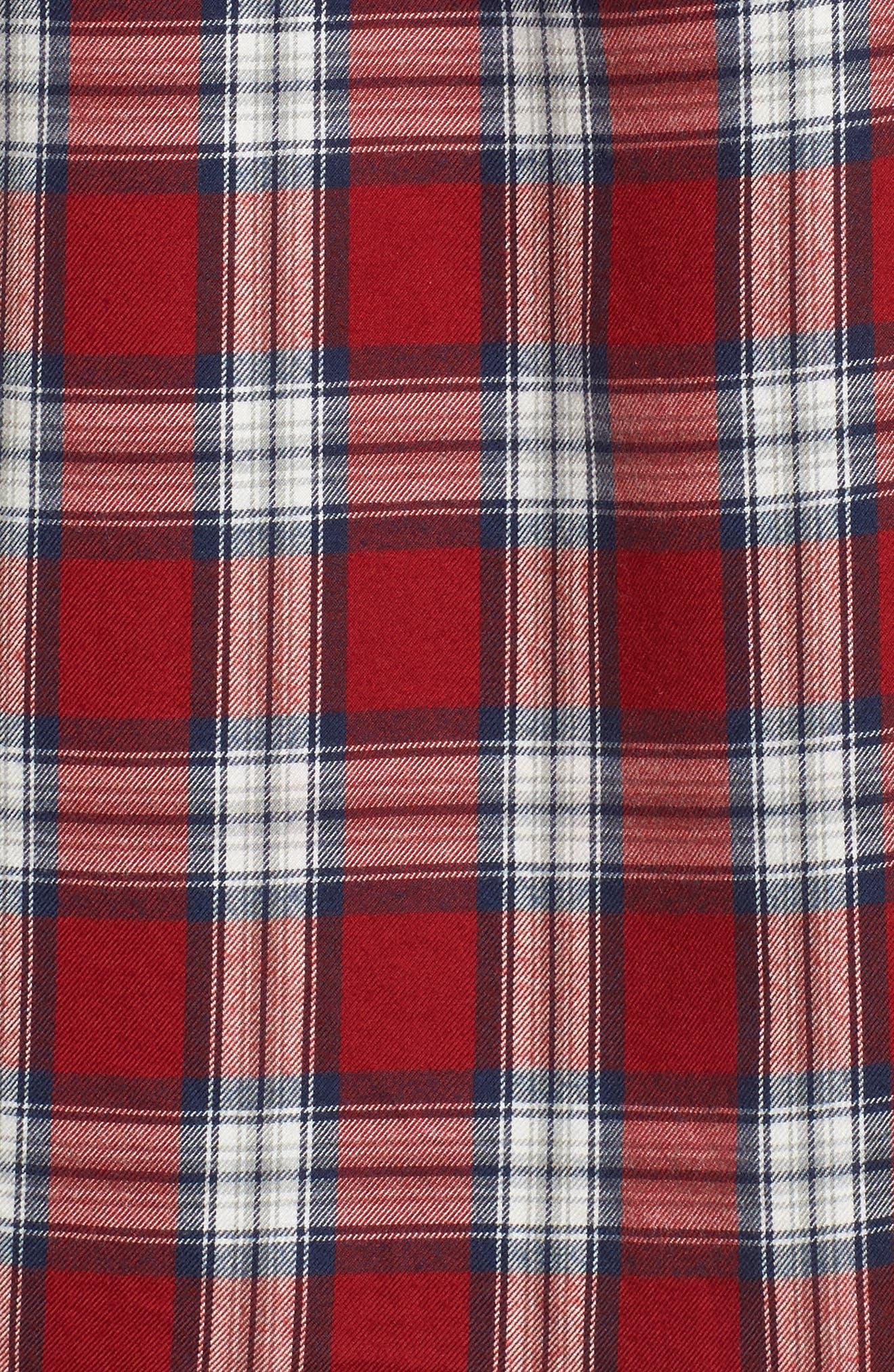 Mercer & Spring Plaid Shirt,                             Alternate thumbnail 5, color,                             Red Plaid