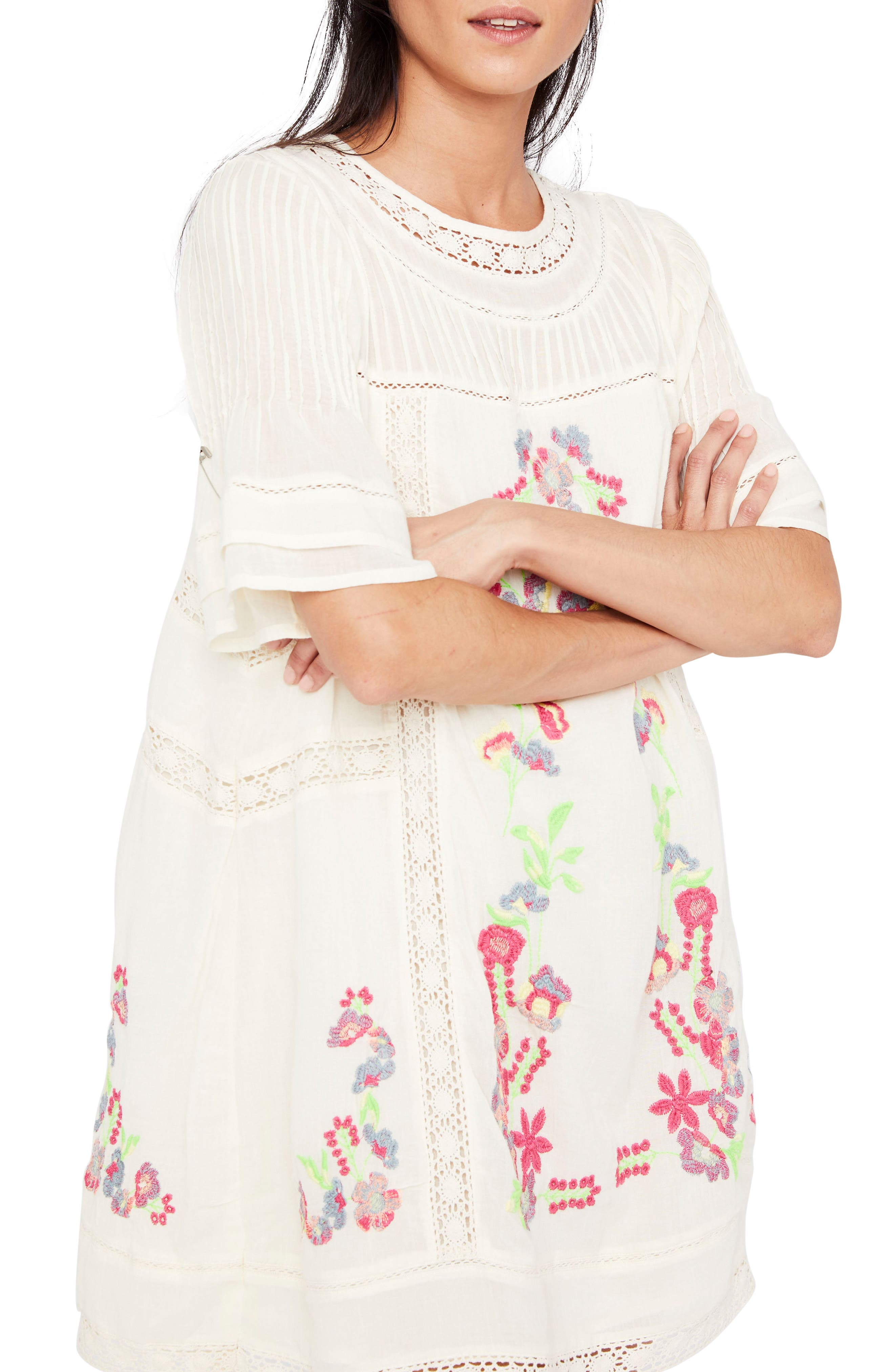 'Perfectly Victorian' Minidress,                             Main thumbnail 1, color,                             White