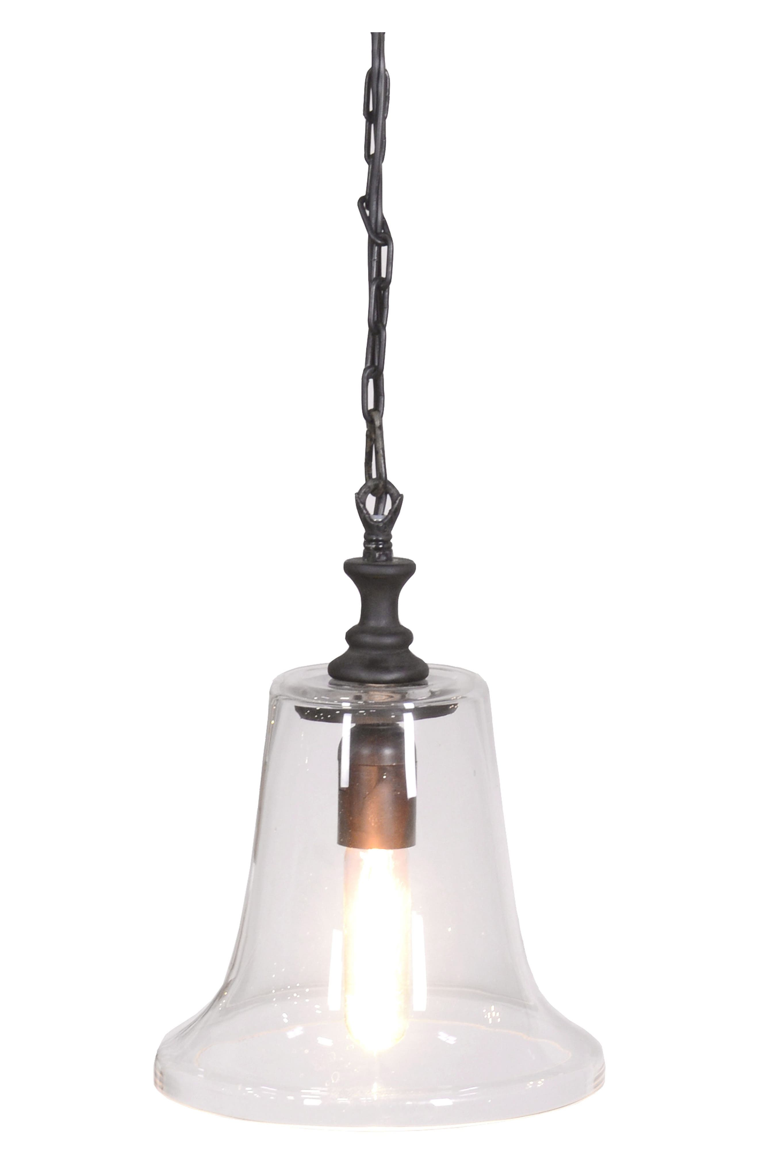 Lagos Glass Pendant Lamp,                         Main,                         color, Iron / Black