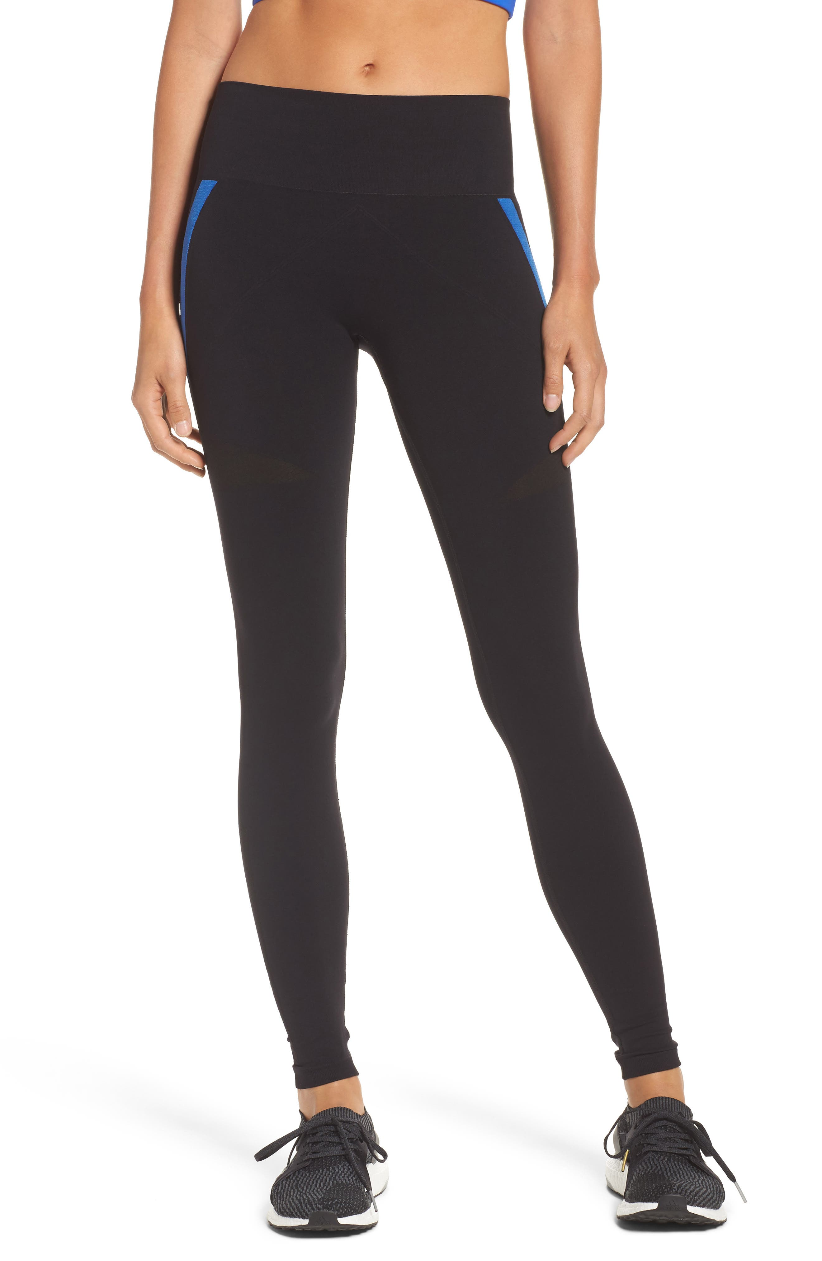 BoomBoom Athletica Leggings,                             Main thumbnail 1, color,                             Black With Blue