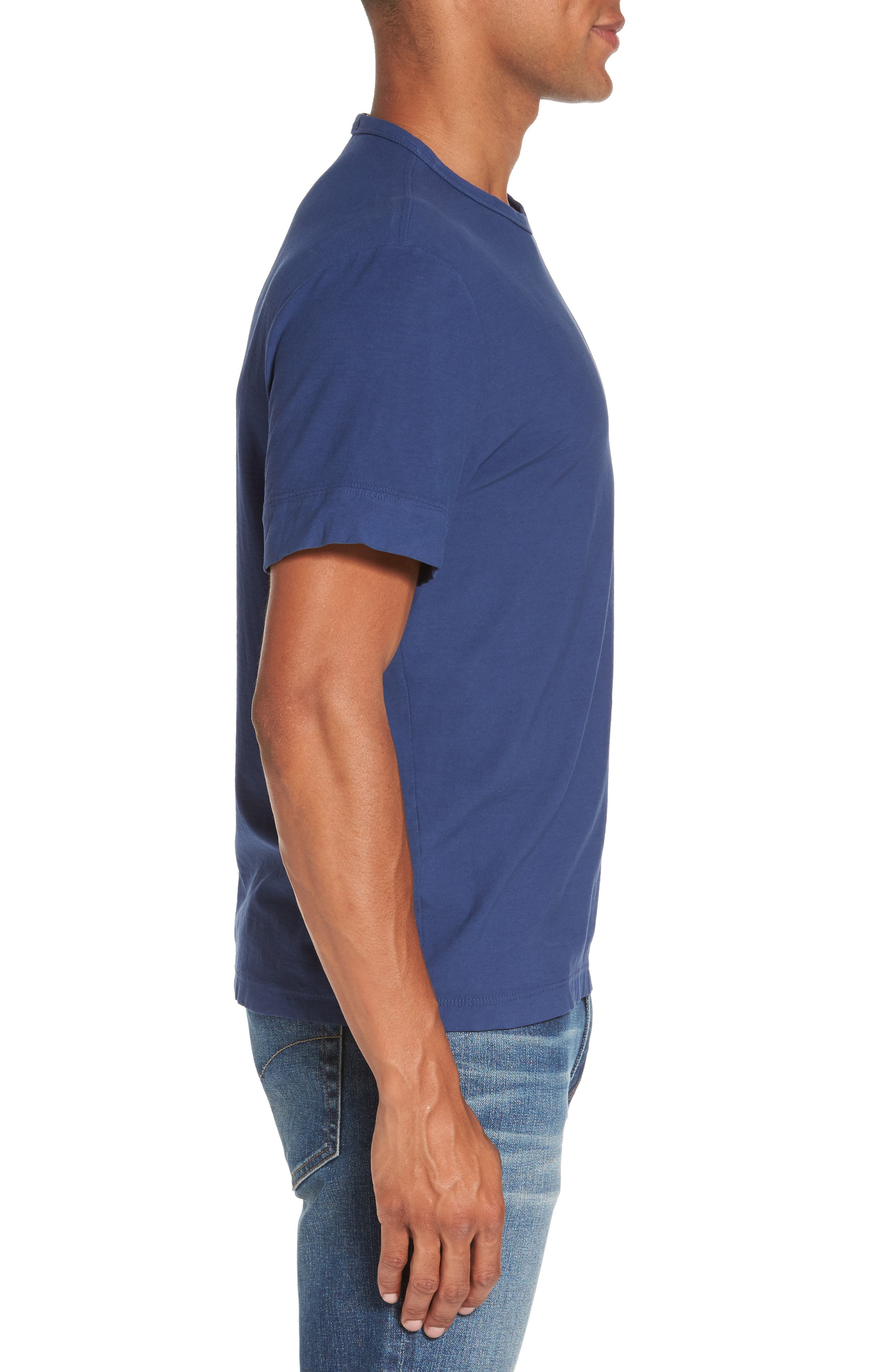 Classic Crewneck T-Shirt,                             Alternate thumbnail 3, color,                             Air Force Blue