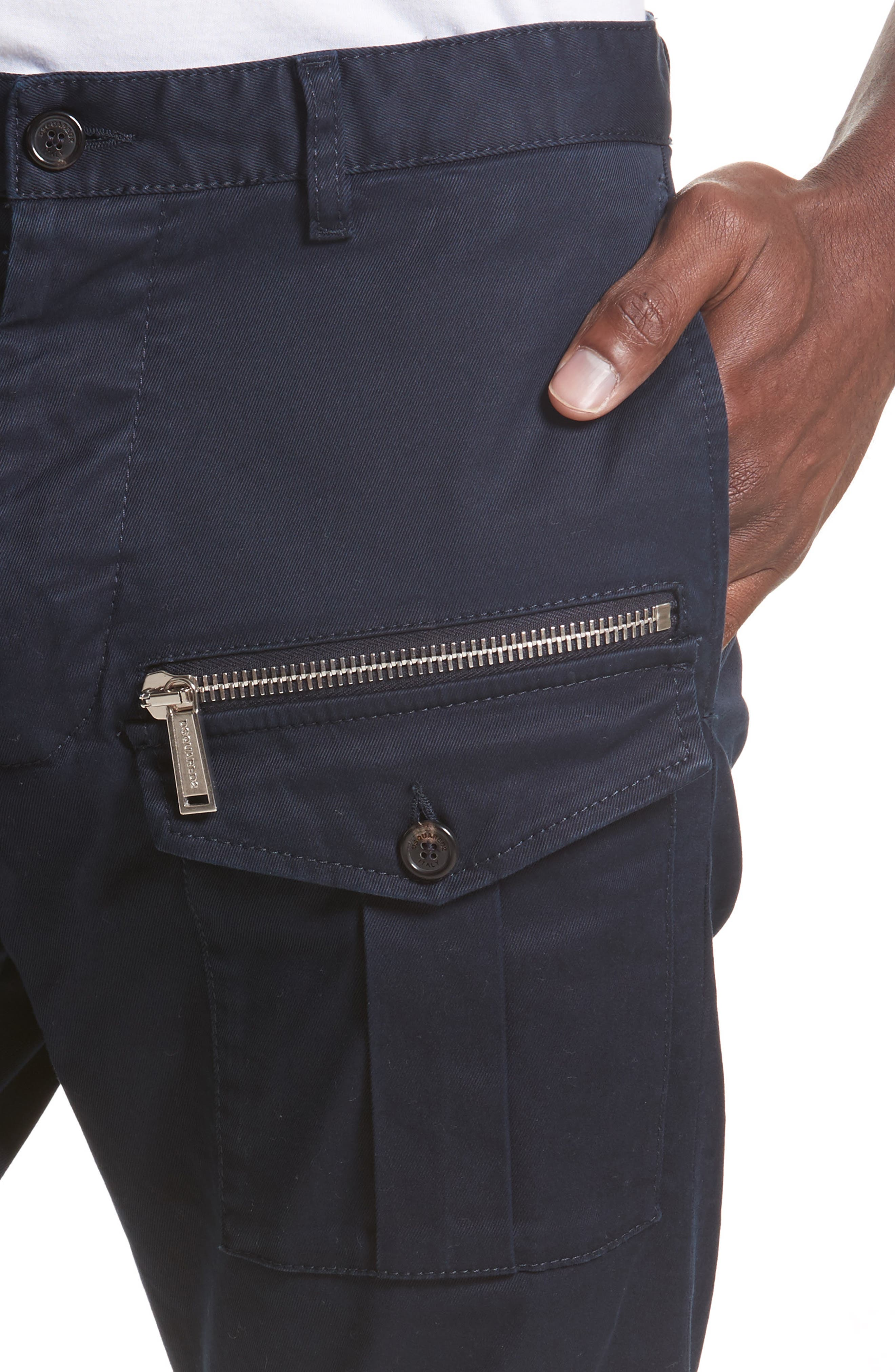 Cargo Pants,                             Alternate thumbnail 4, color,                             Navy