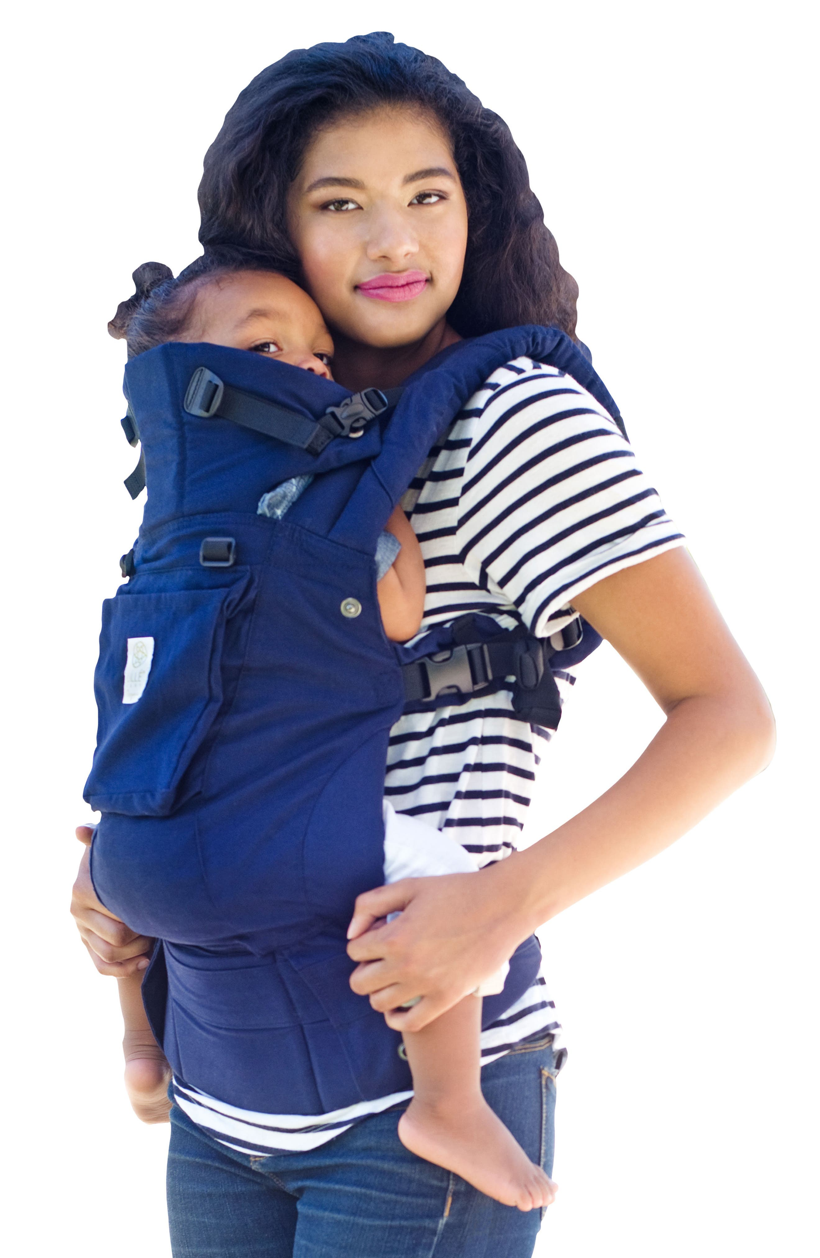 Complete 6-Position Organic Cotton Baby Carrier,                         Main,                         color, Blue Moonlight