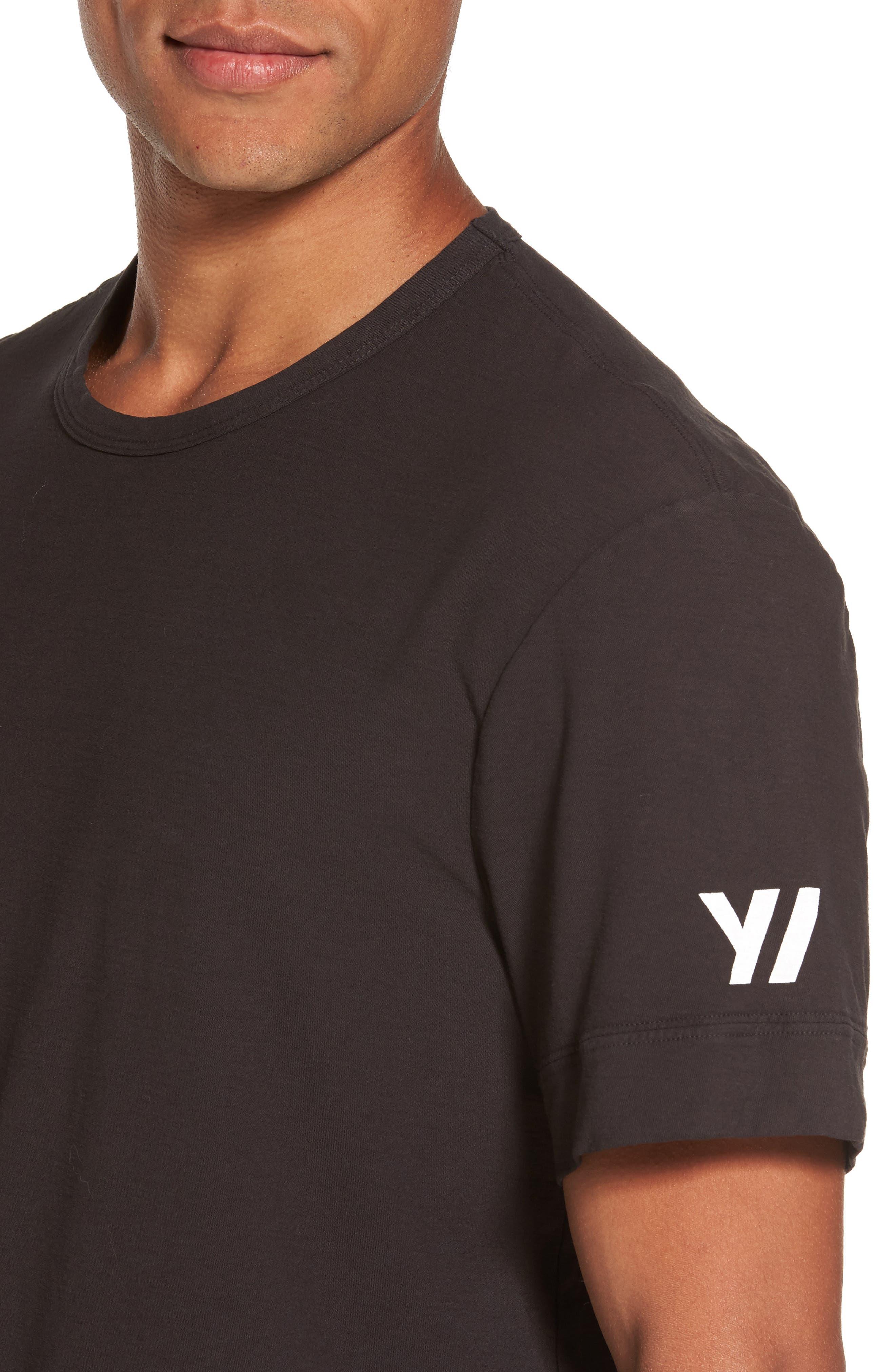 Reverse Tree Graphic T-Shirt,                             Alternate thumbnail 4, color,                             Carbon