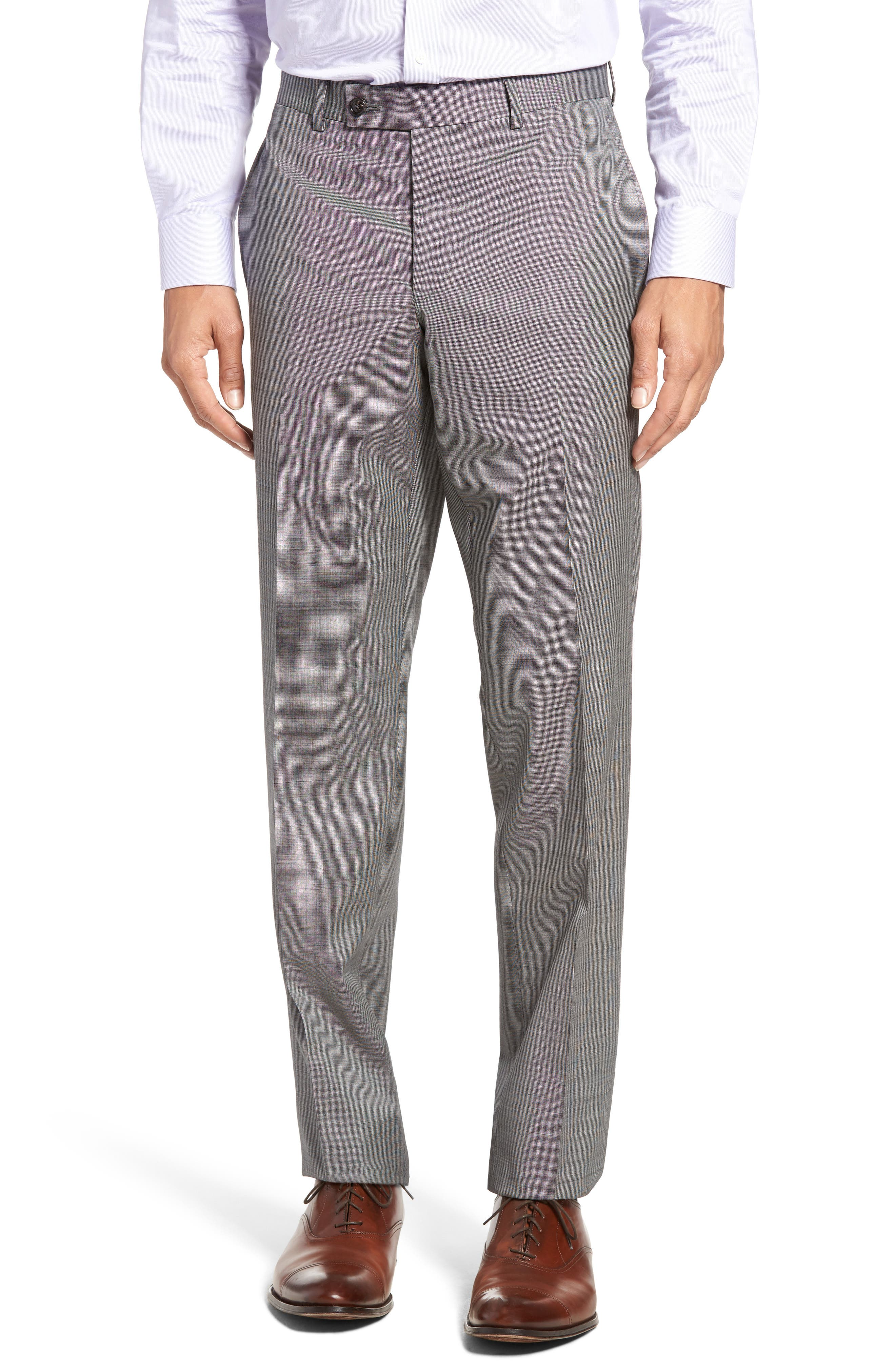 Jay Trim Fit Solid Wool Suit,                             Alternate thumbnail 6, color,                             Light Grey