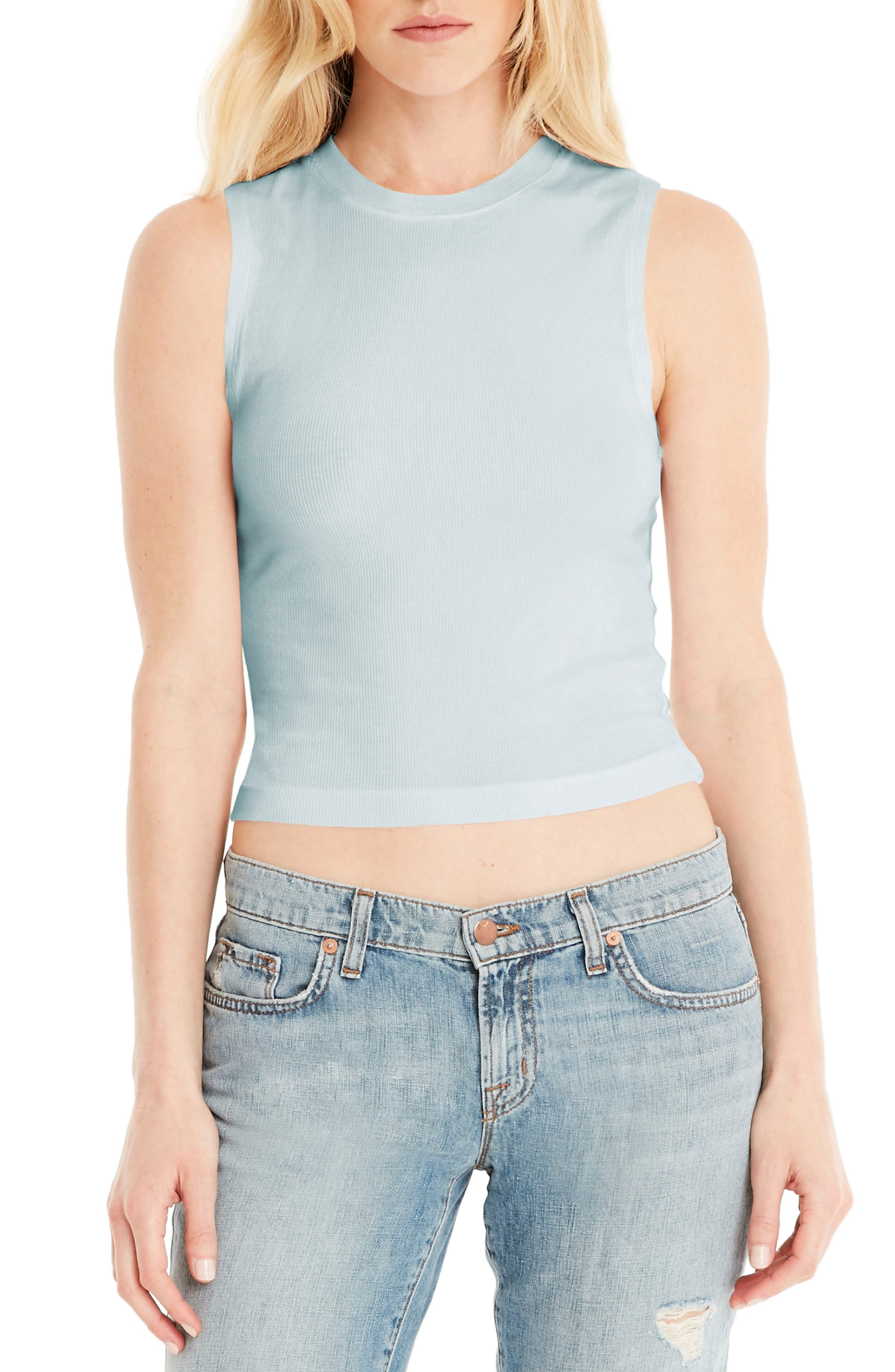 Crop Tank,                         Main,                         color, Clearwater