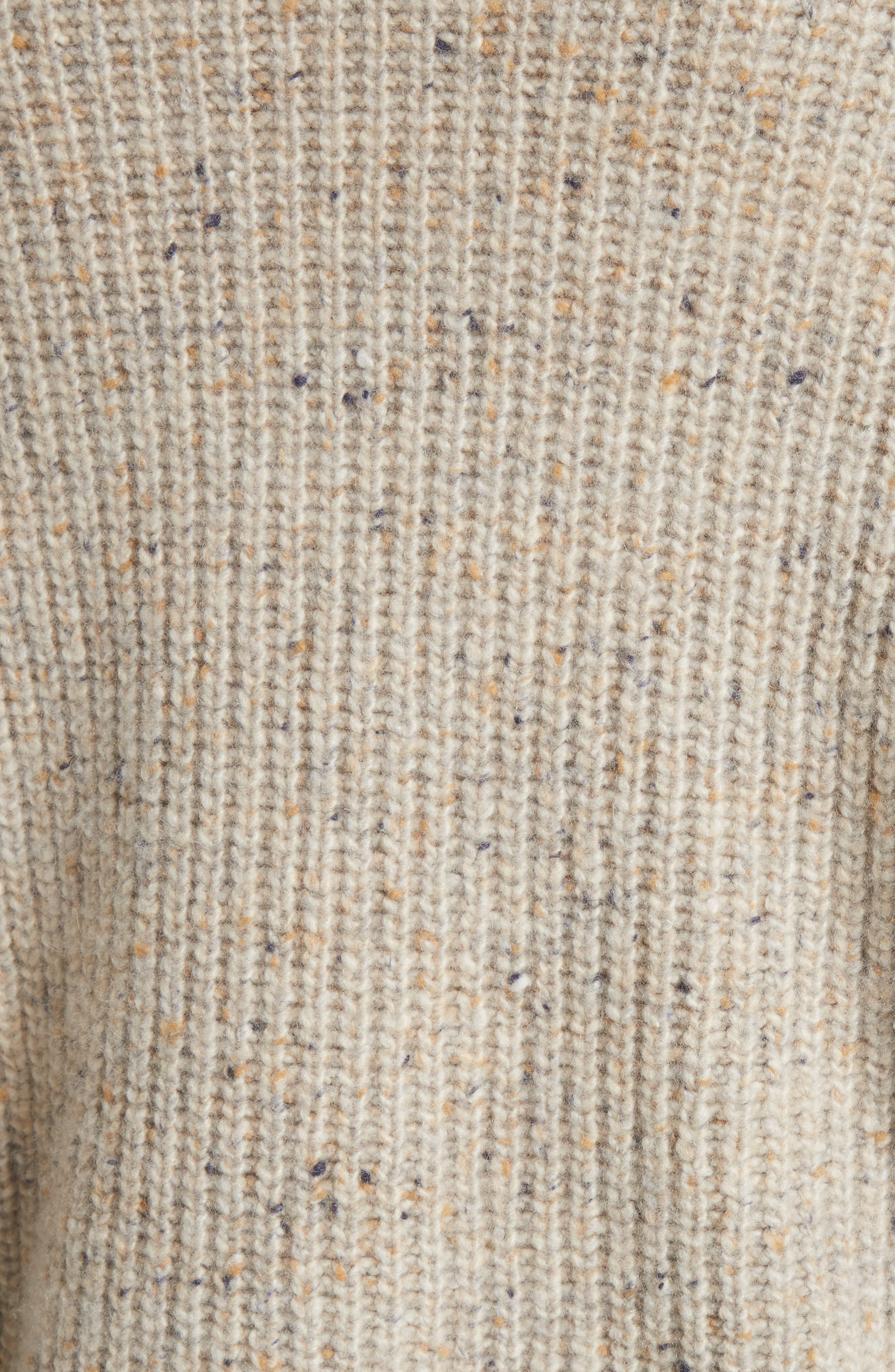 Saddle Sleeve Cashmere Sweater,                             Alternate thumbnail 5, color,                             Light Cream