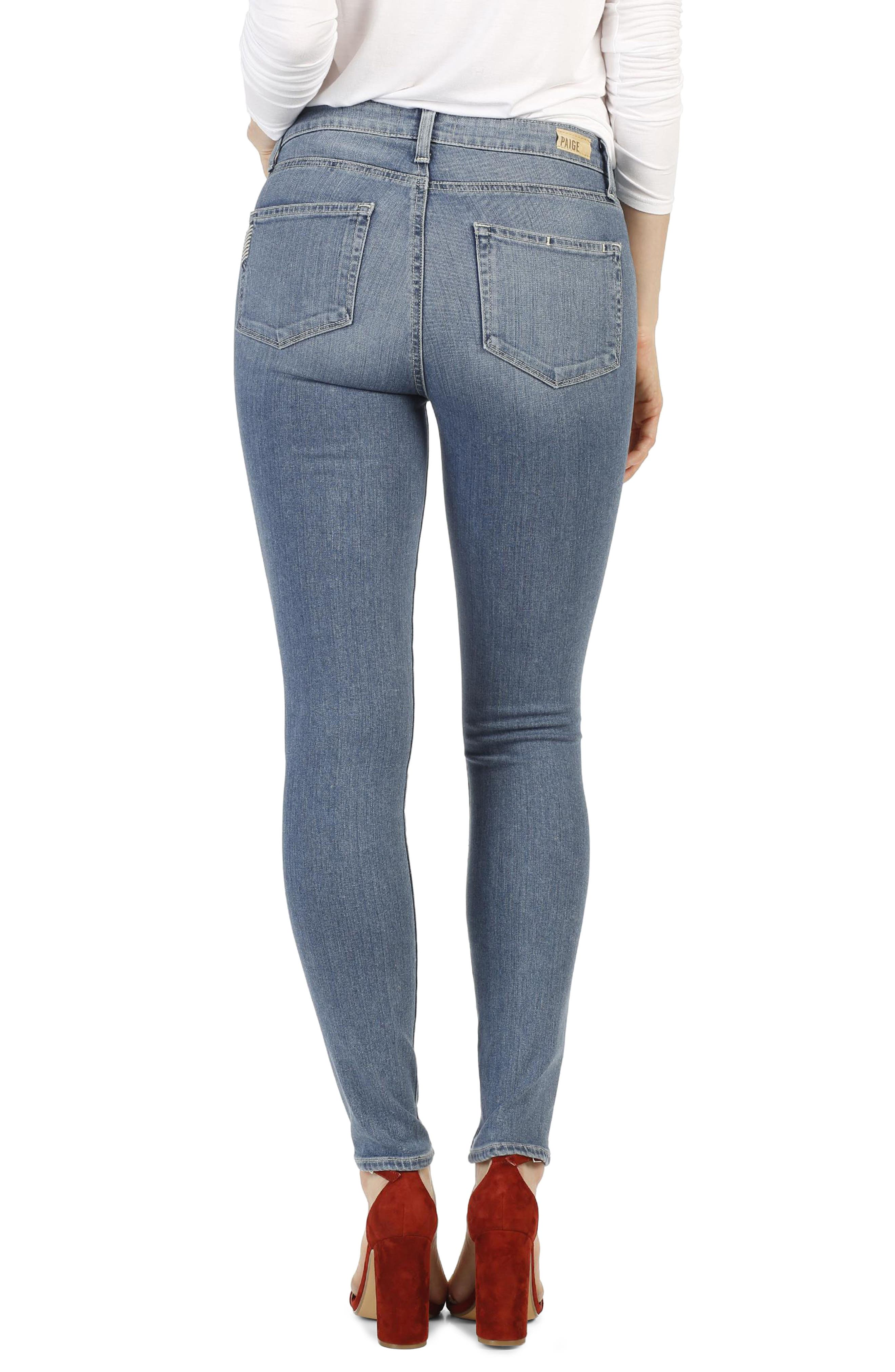 Alternate Image 2  - PAIGE Transcend - Hoxton High Waist Ultra Skinny Jeans (Cayucos)