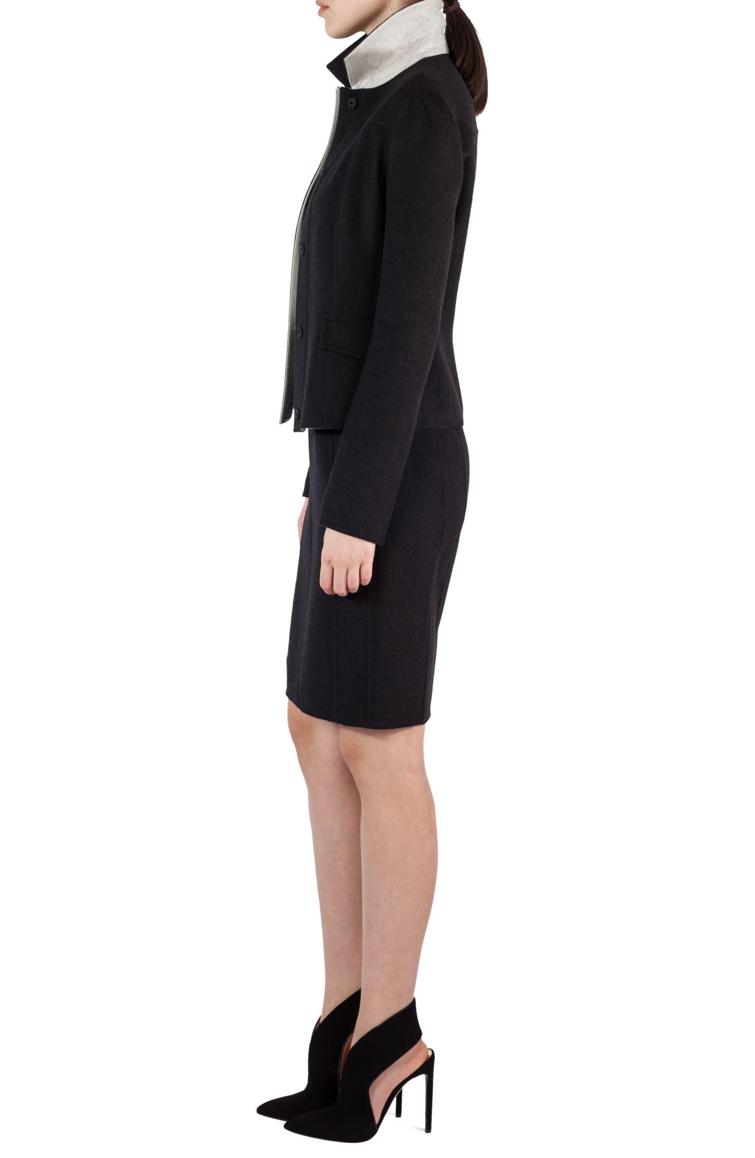Alternate Image 4  - Akris Double Face Wool Reversible Bicolor Jacket