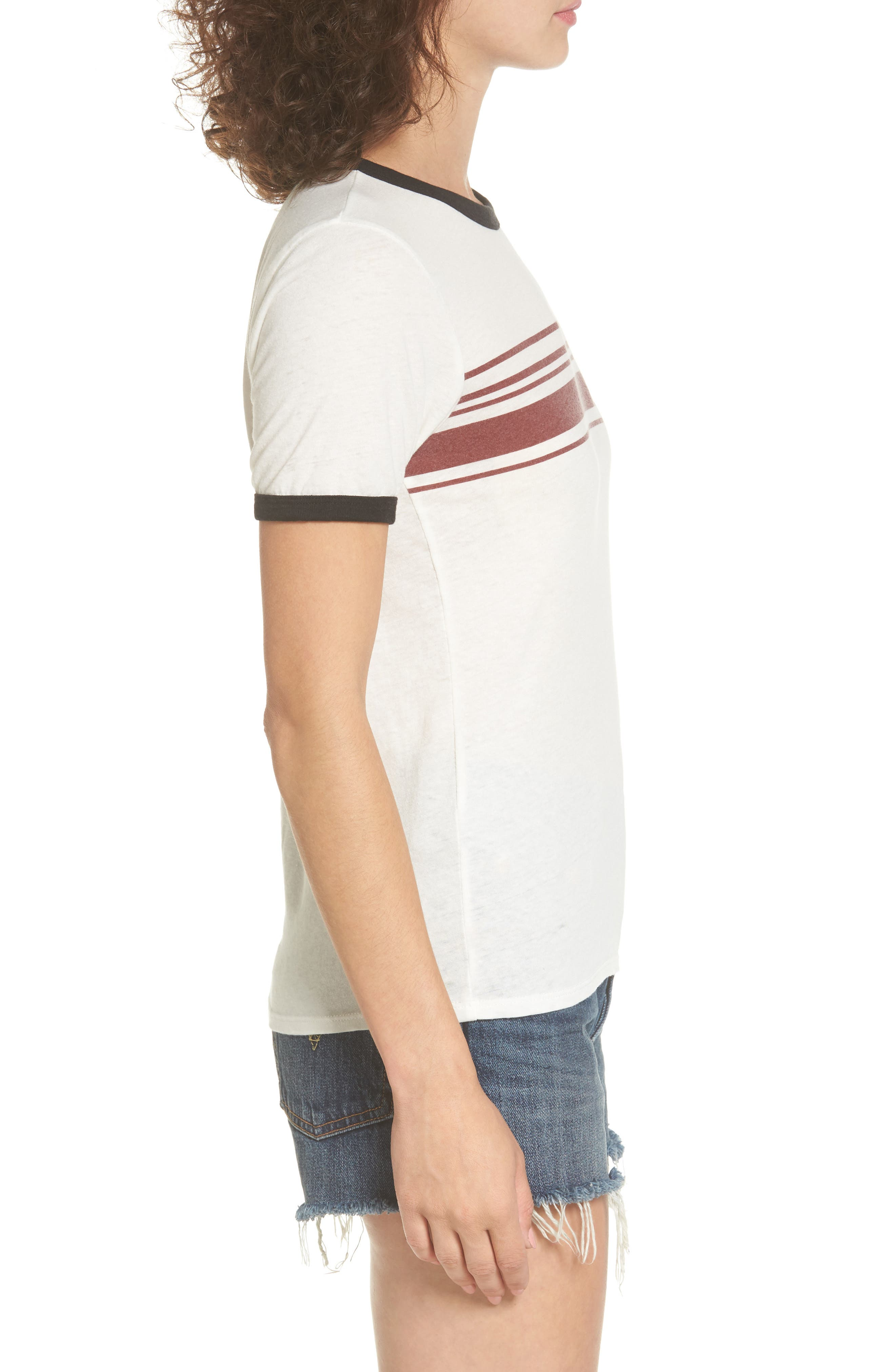 Alternate Image 3  - RVCA Stripe Ringer Tee