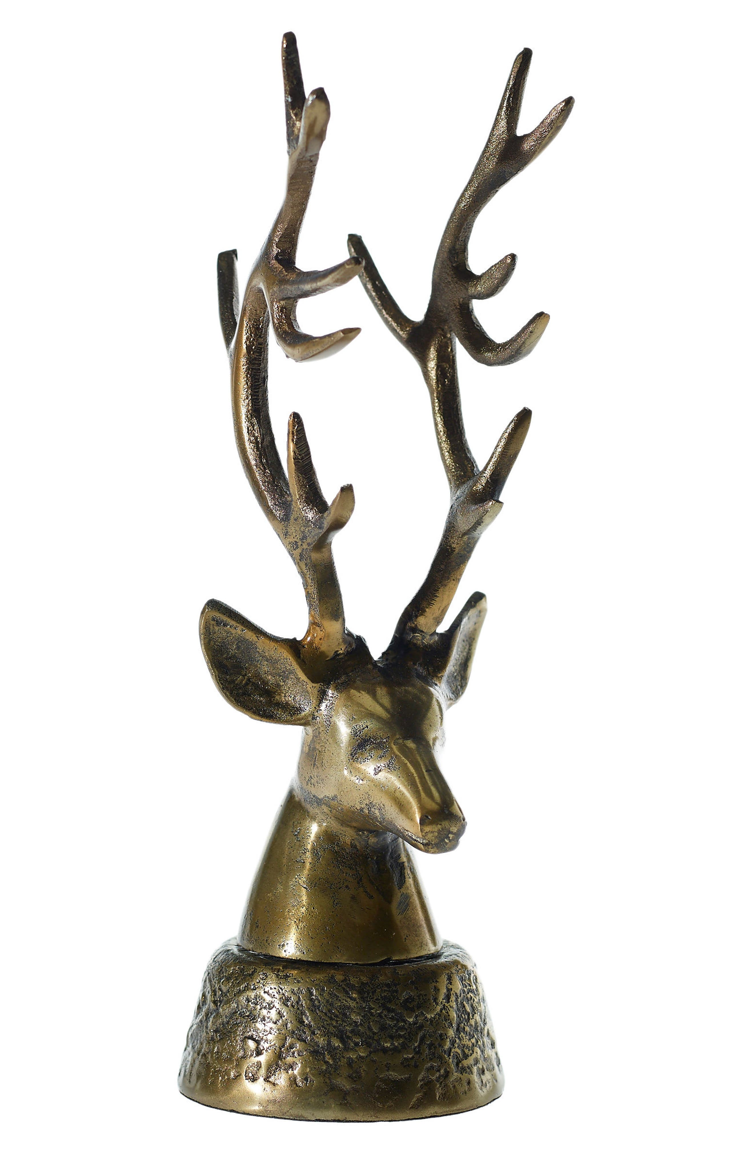 Deer Head Tabletop Decoration,                             Main thumbnail 1, color,                             Gold